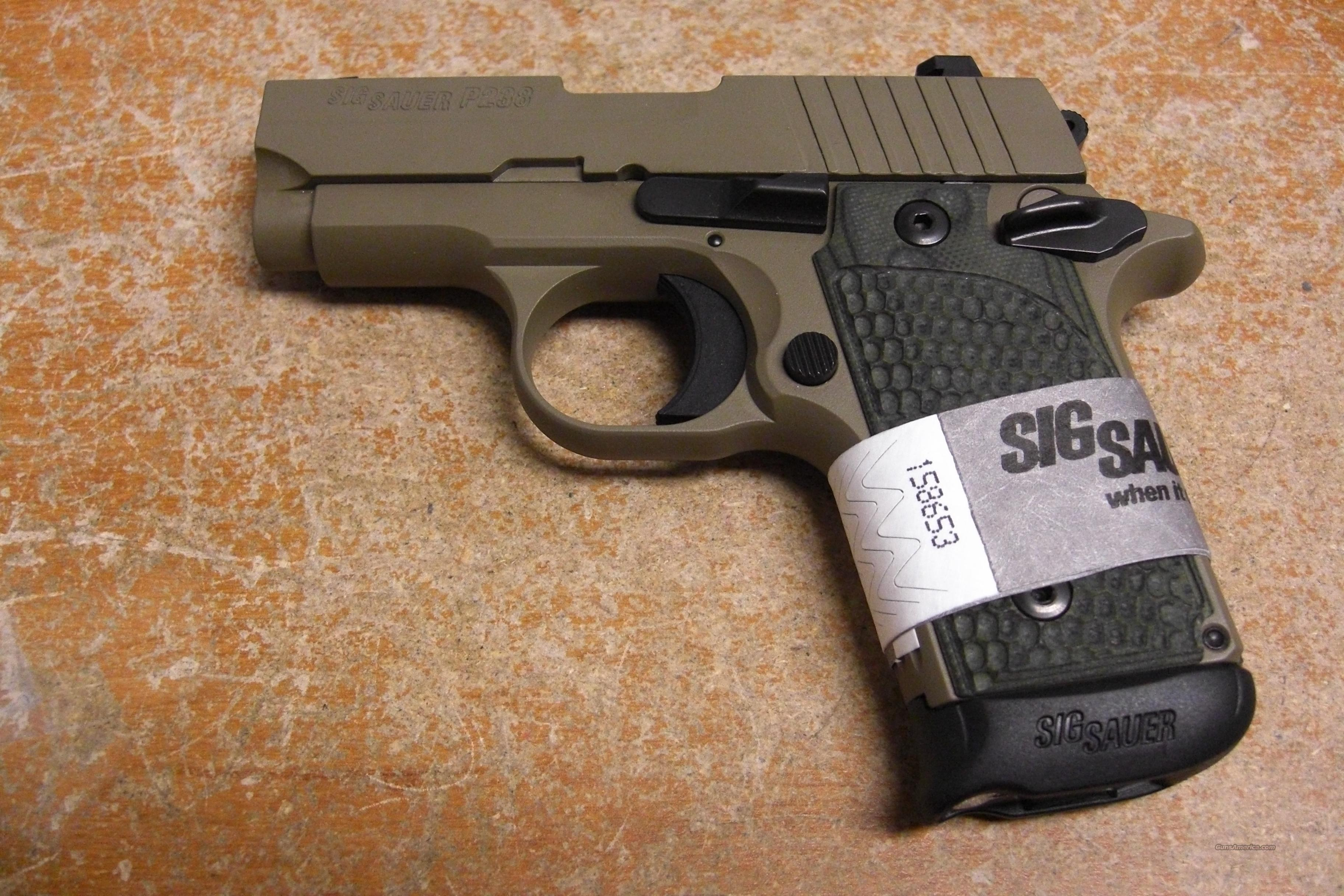 P238 Scorpion w/night sights FDE finish  Guns > Pistols > Sig - Sauer/Sigarms Pistols > Other