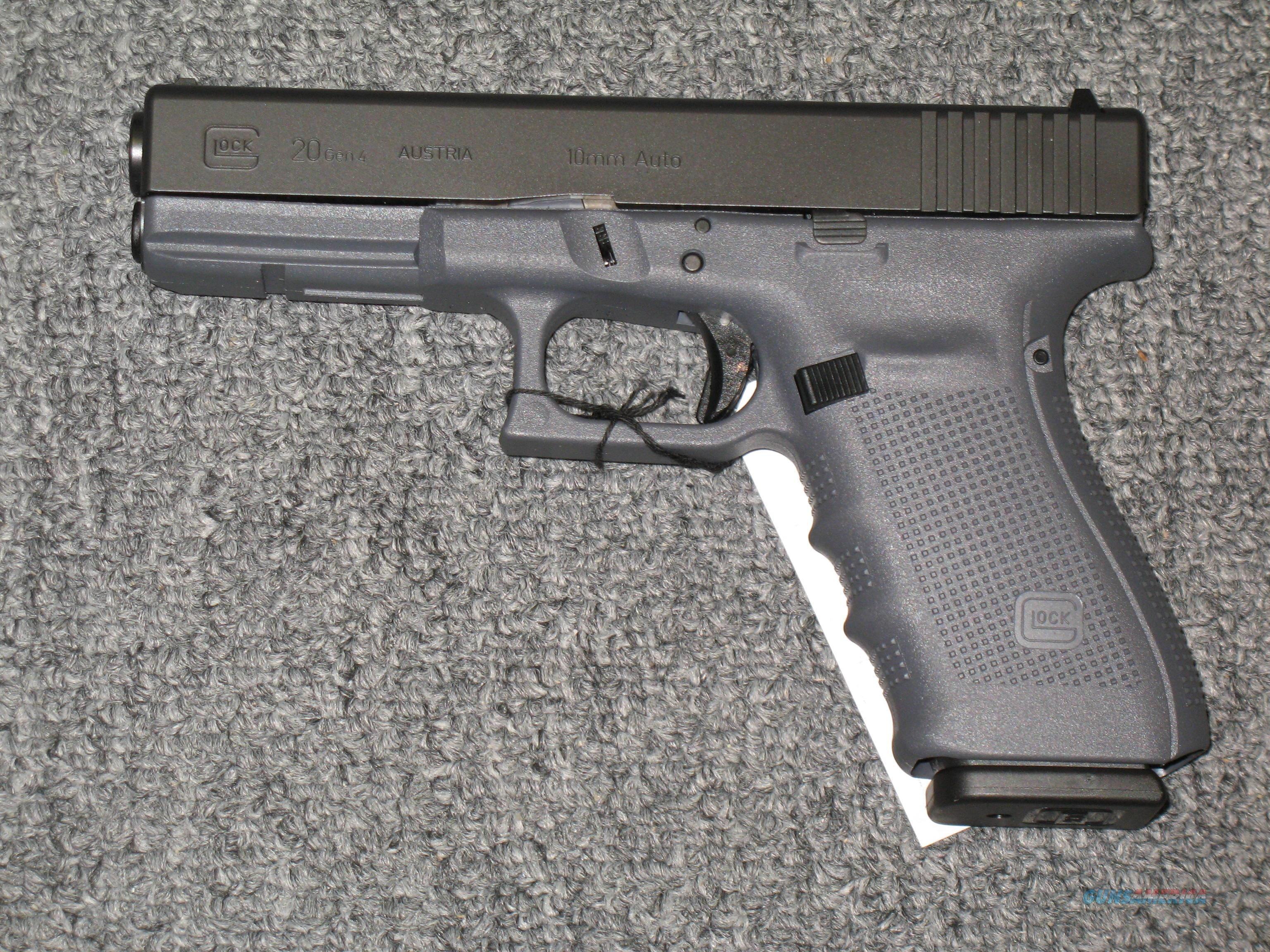 20 Gen 4 Special Edition with black & gray finish, three 15 rd. mags.  Guns > Pistols > Glock Pistols > 20/21