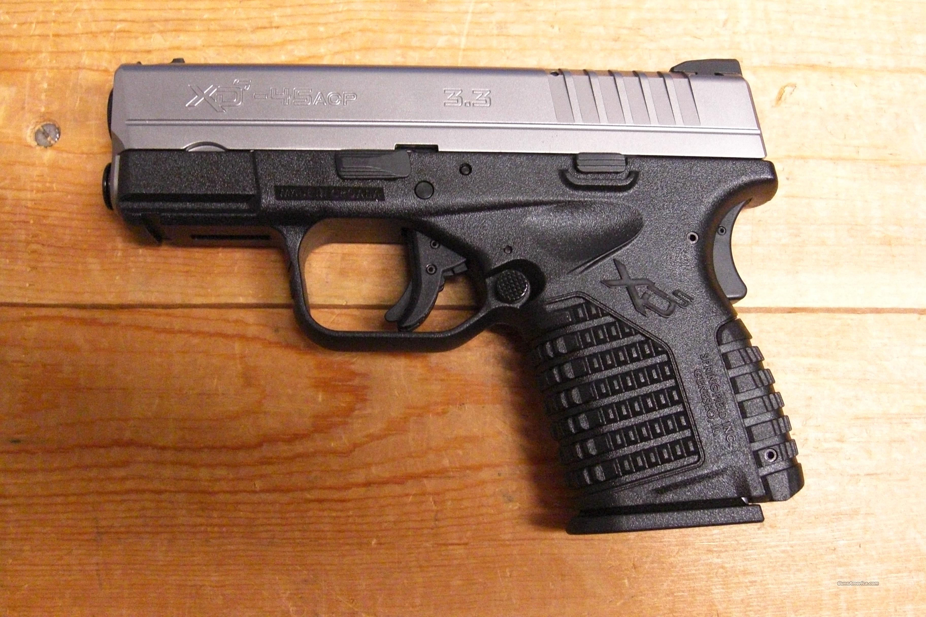 "XDS-45 w/3.3"" bbl., stainless slide  Guns > Pistols > Springfield Armory Pistols > XD (eXtreme Duty)"