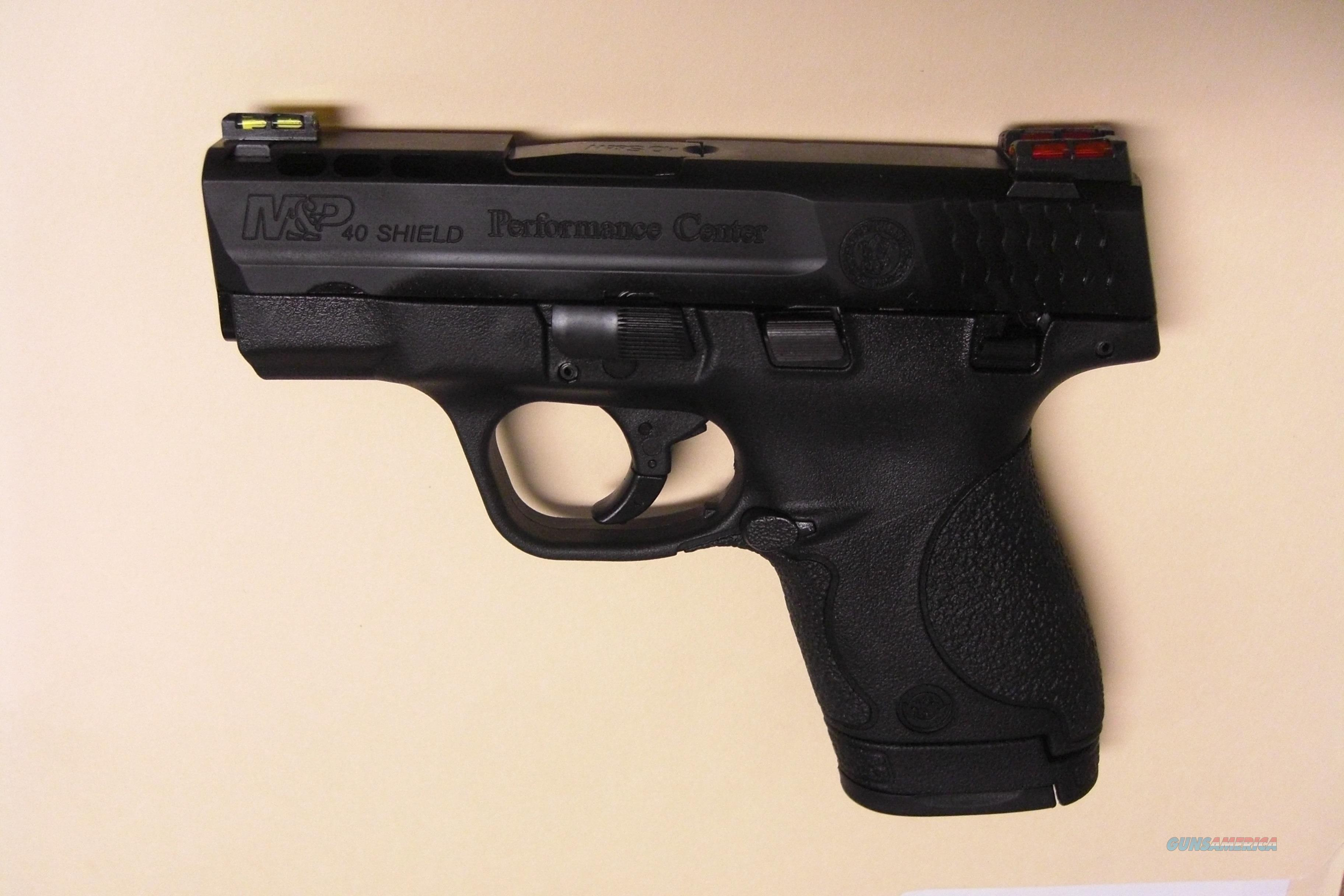 M & P 40 Shield Performance Center w/ported bbl.  Guns > Pistols > Smith & Wesson Pistols - Autos > Polymer Frame