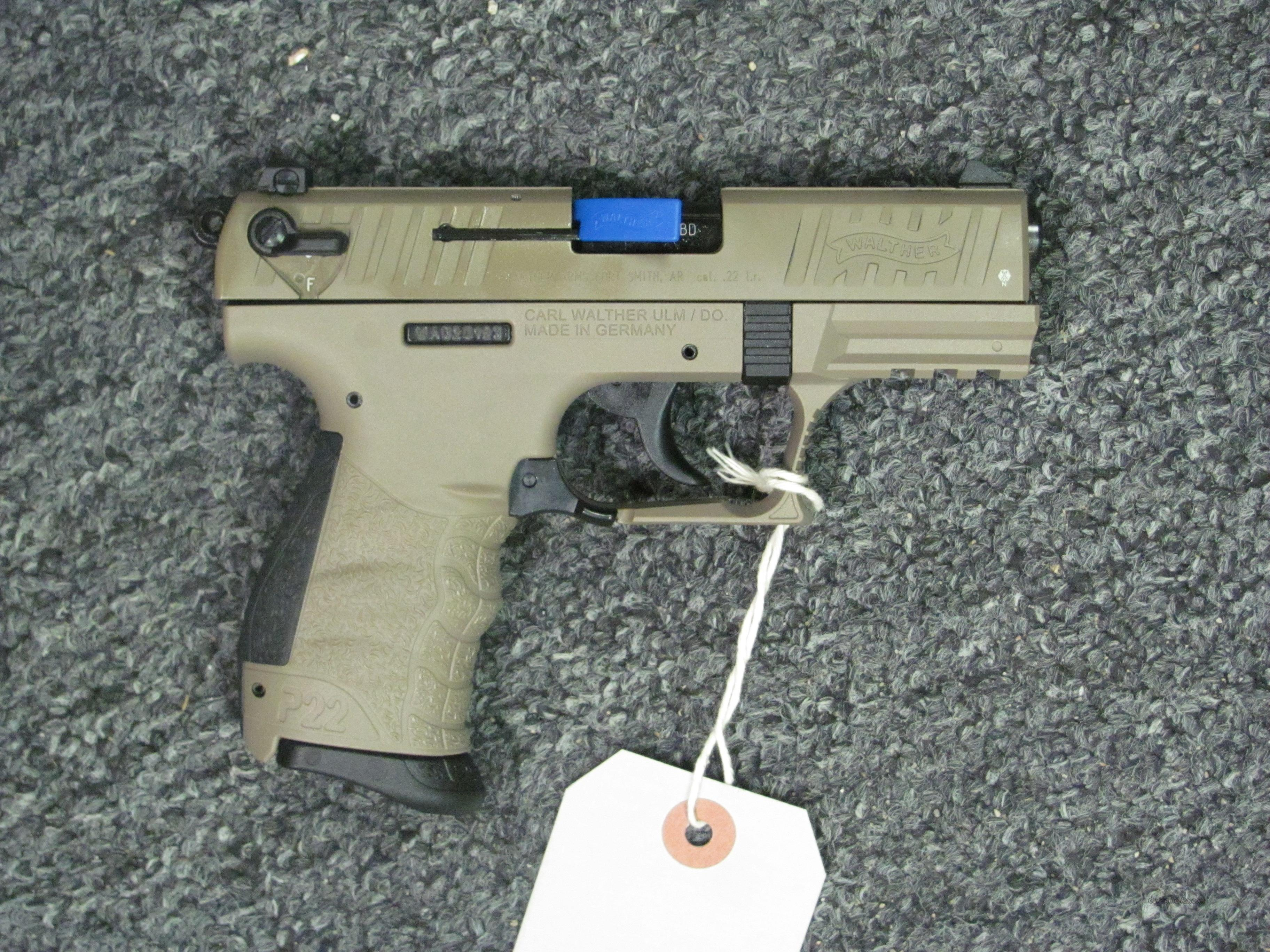 P22 w/FDE Finish  Guns > Pistols > Walther Pistols > Post WWII > P22