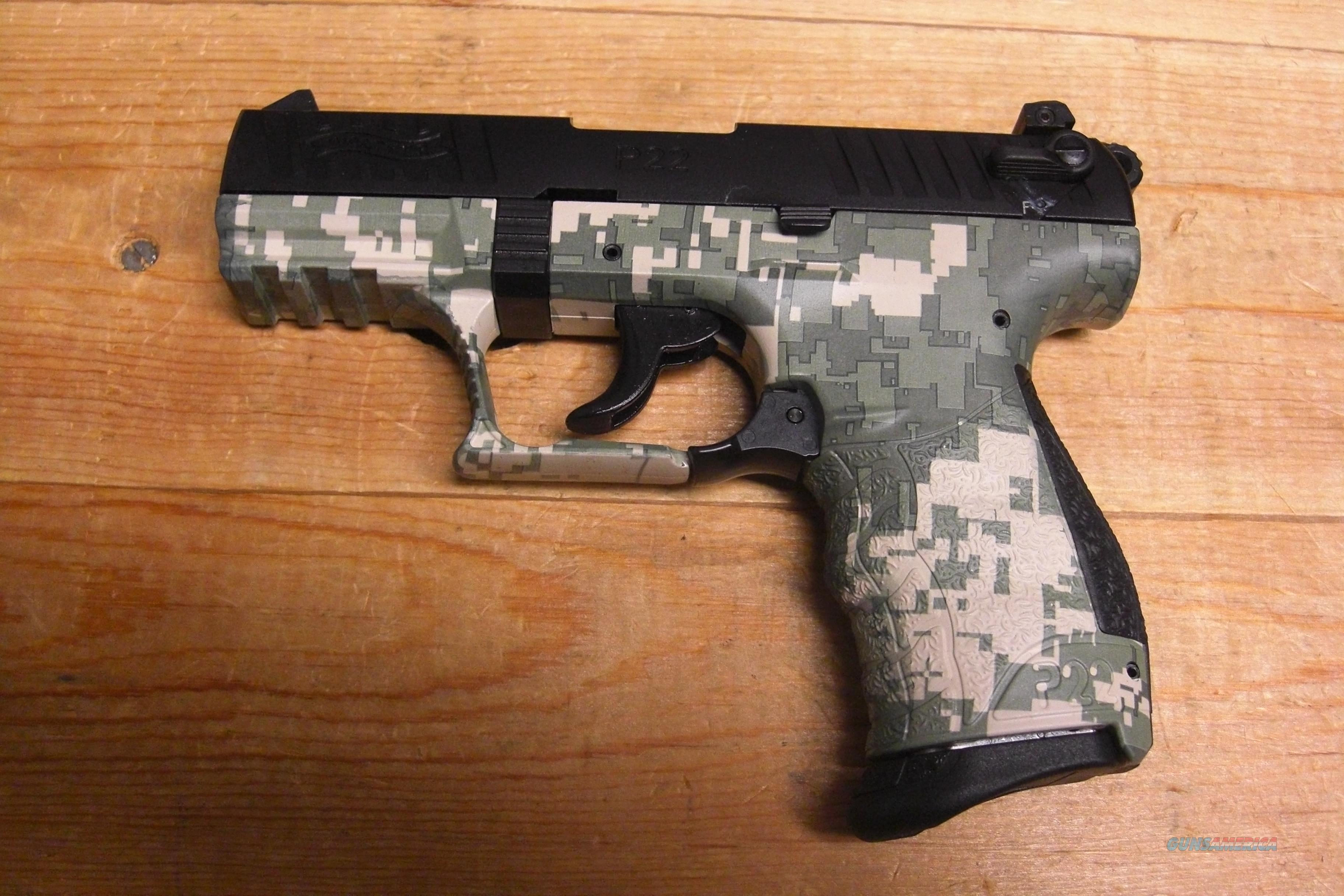 P22 w/black and digital camo finish  Guns > Pistols > Walther Pistols > Post WWII > P22