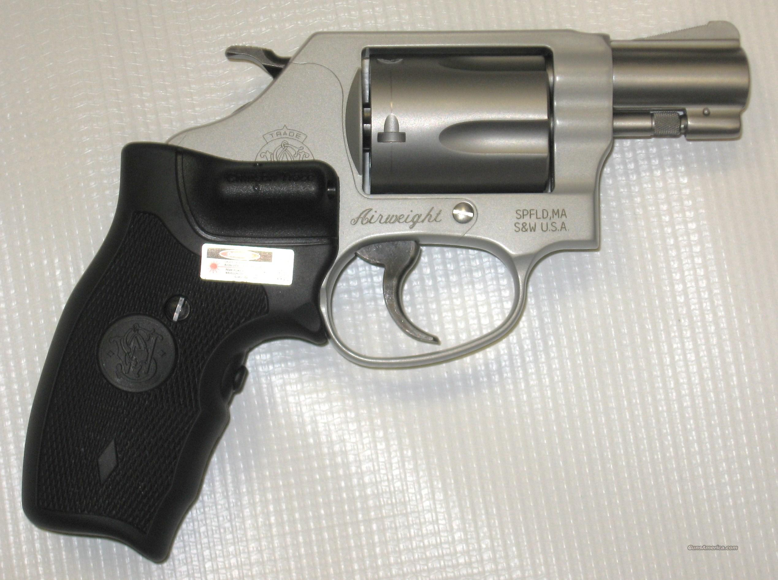 Smith & Wesson 637-2 Airweight w/ Crimson Trace Grips  Guns > Pistols > Smith & Wesson Revolvers > Pocket Pistols