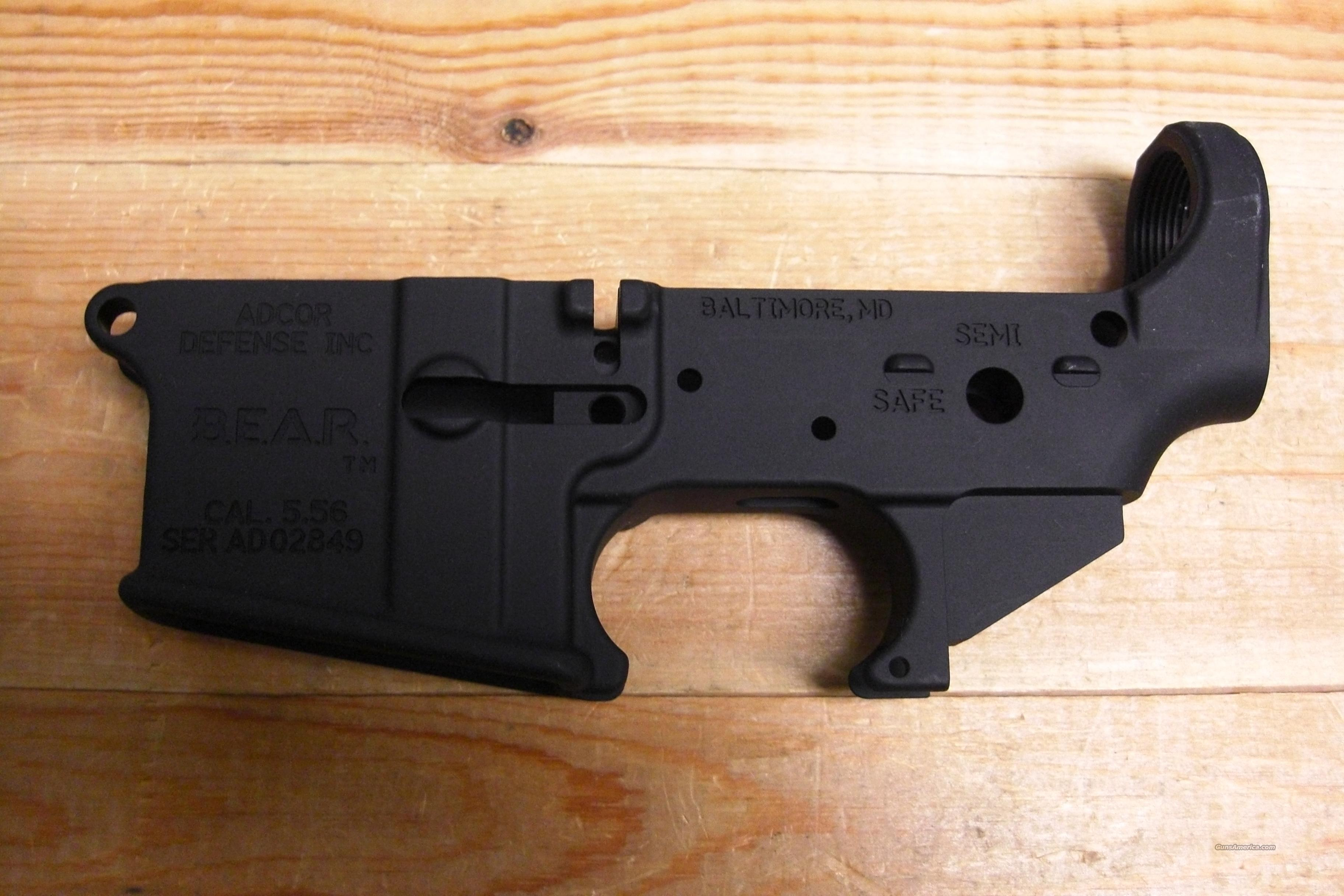 Adcor Defense  Bear  stripped receiver  Guns > Rifles > AR-15 Rifles - Small Manufacturers > Lower Only