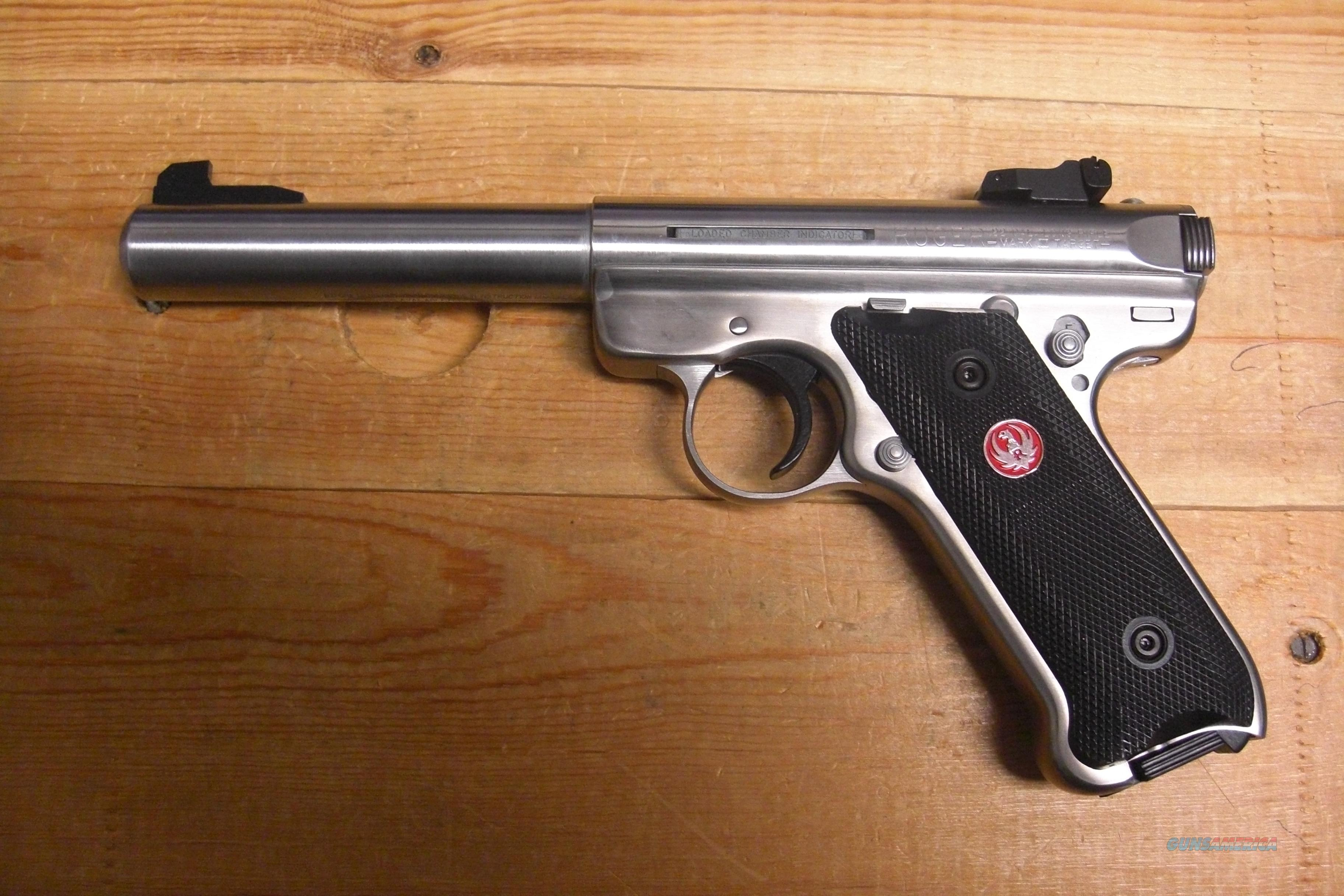 "Mk III Target 5.5"" stainless bull bbl w/2 10 rd mags  Guns > Pistols > Ruger Semi-Auto Pistols > Mark I & II Family"