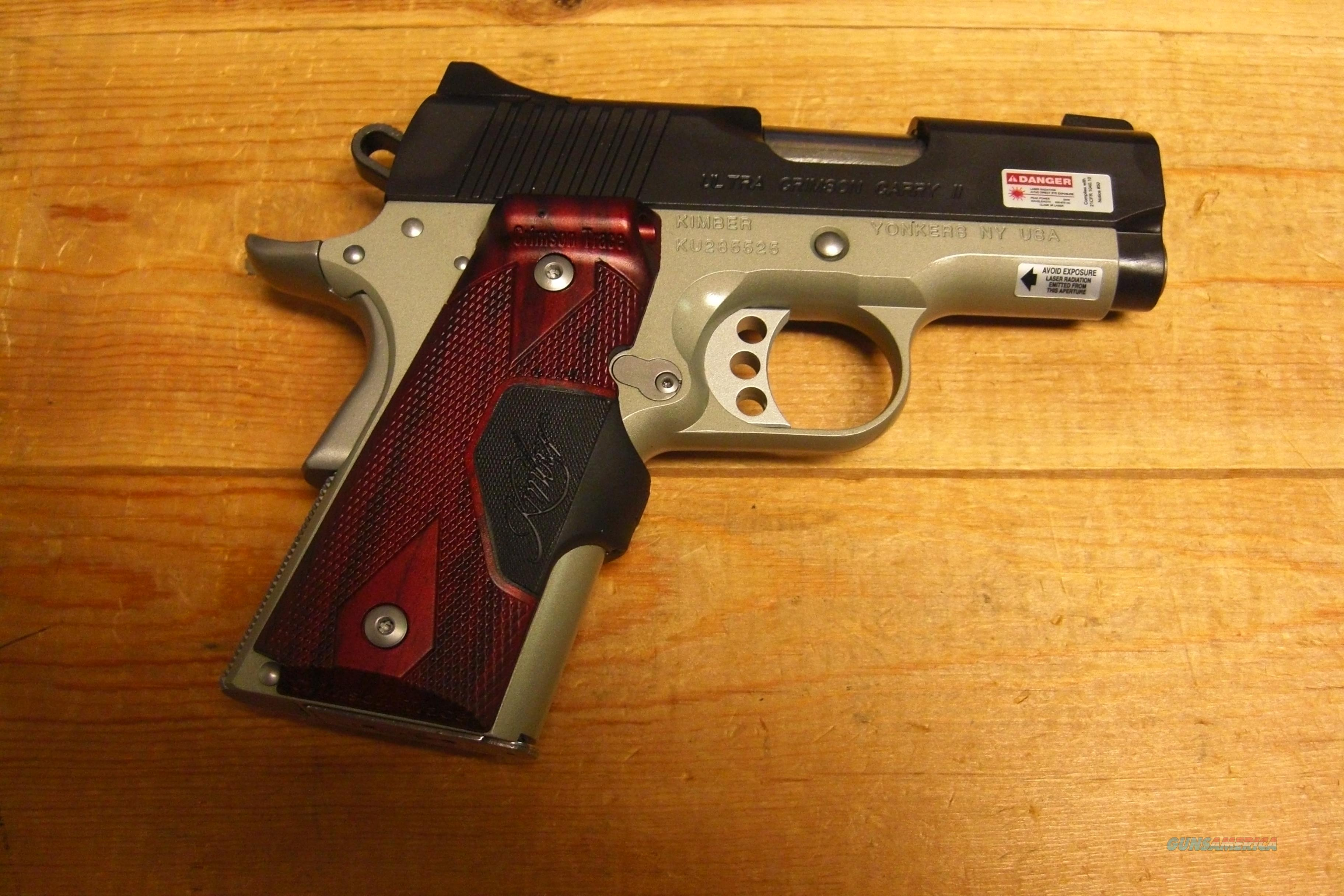 Ultra Crimson Carry II w/Laser Grip (red)  Guns > Pistols > Kimber of America Pistols