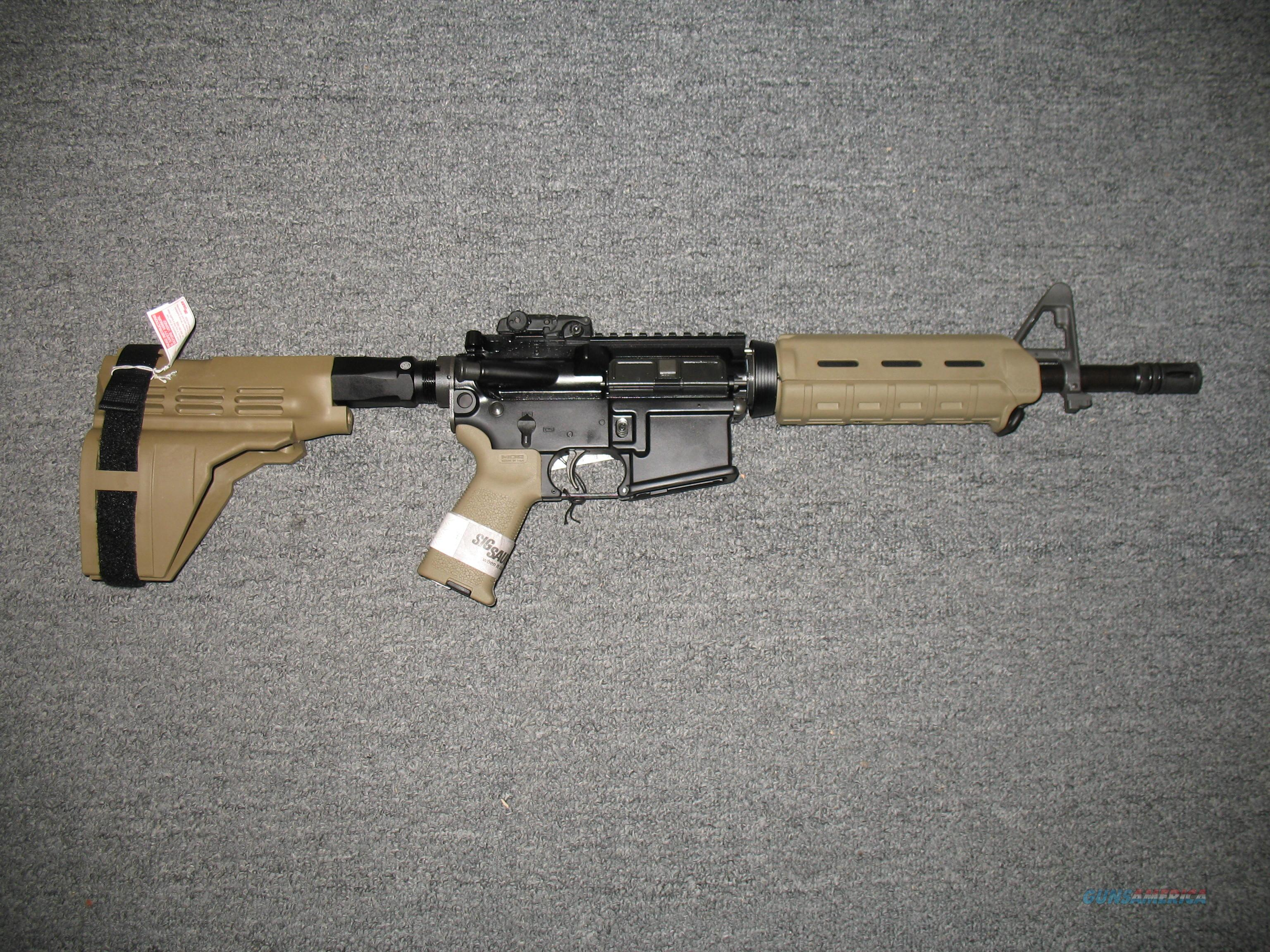 M400 Pistol w/Flat Dark Earth MOE furniture and Sig Stabelizing Brace  Guns > Rifles > Sig - Sauer/Sigarms Rifles
