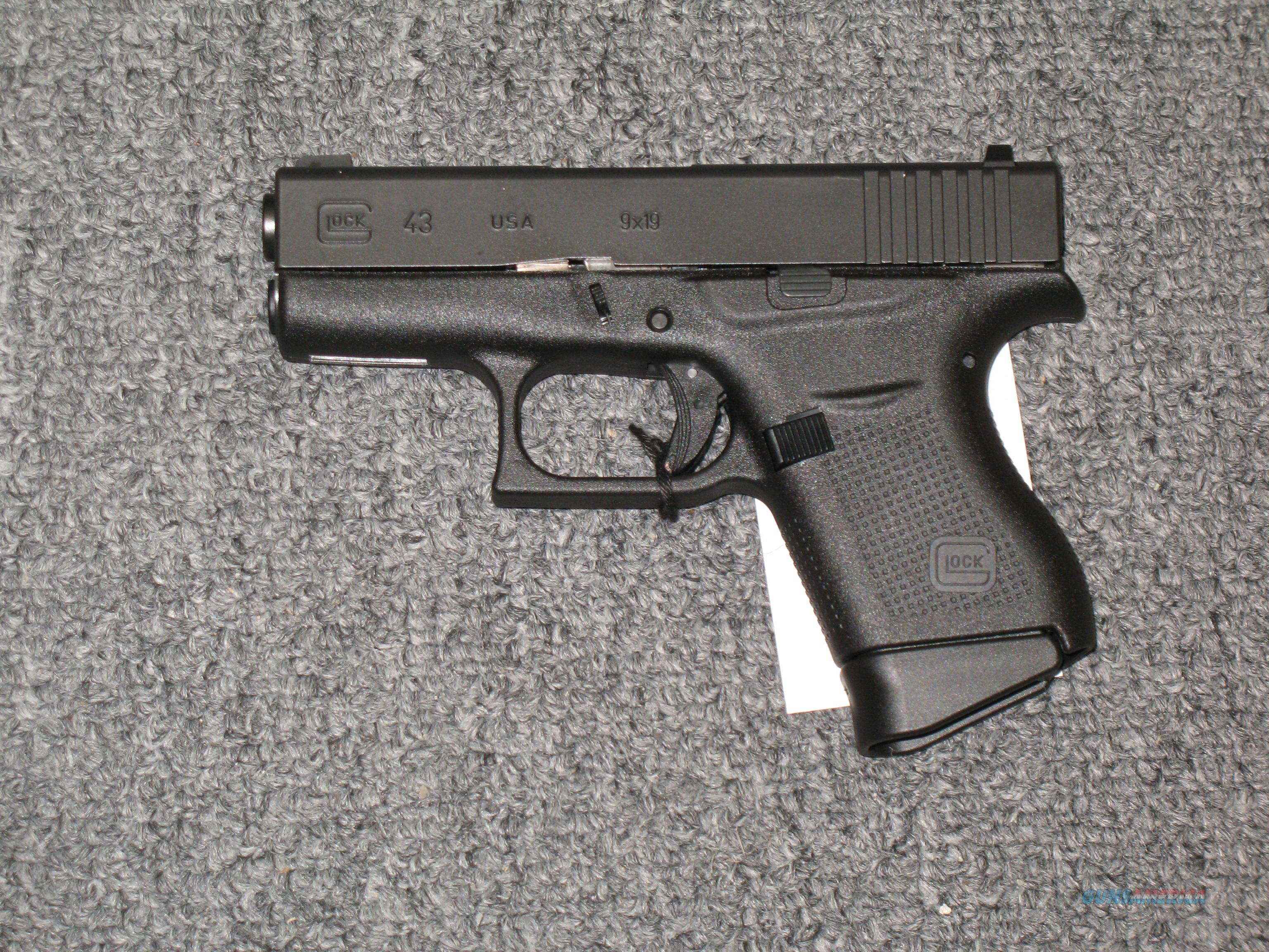 GLOCK  43 w/front night sight and two 6rd mags.  Guns > Pistols > Glock Pistols > 17