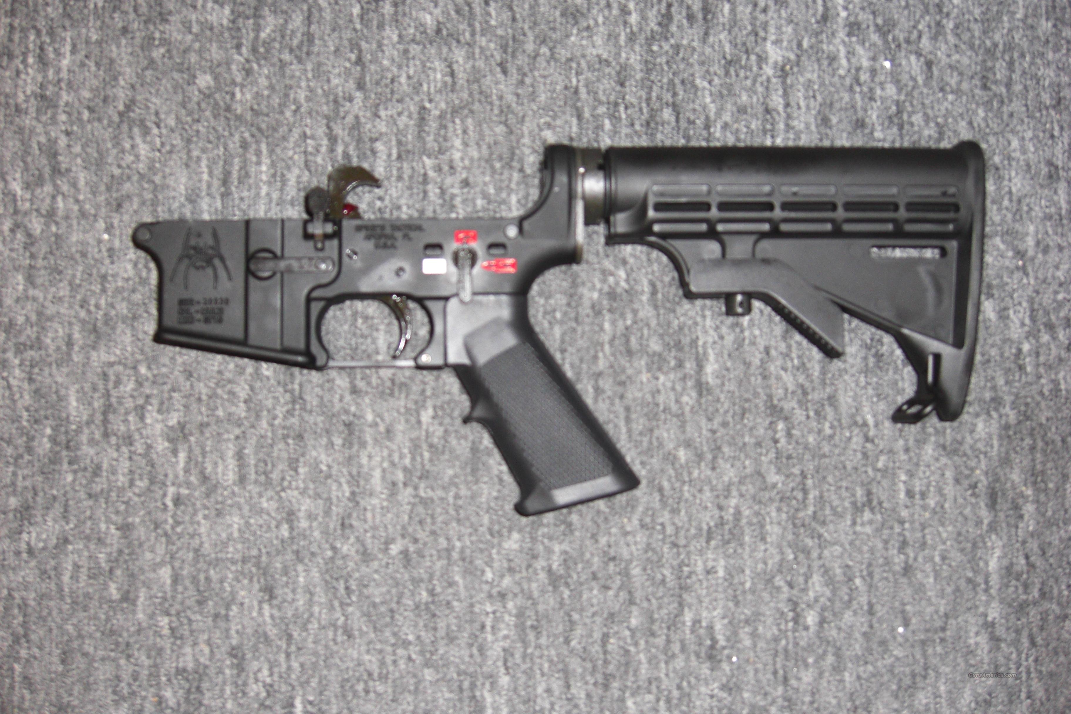 Spike's Tactical receiver w/stock, pistol grip, trigger   Guns > Rifles > AR-15 Rifles - Small Manufacturers > Lower Only