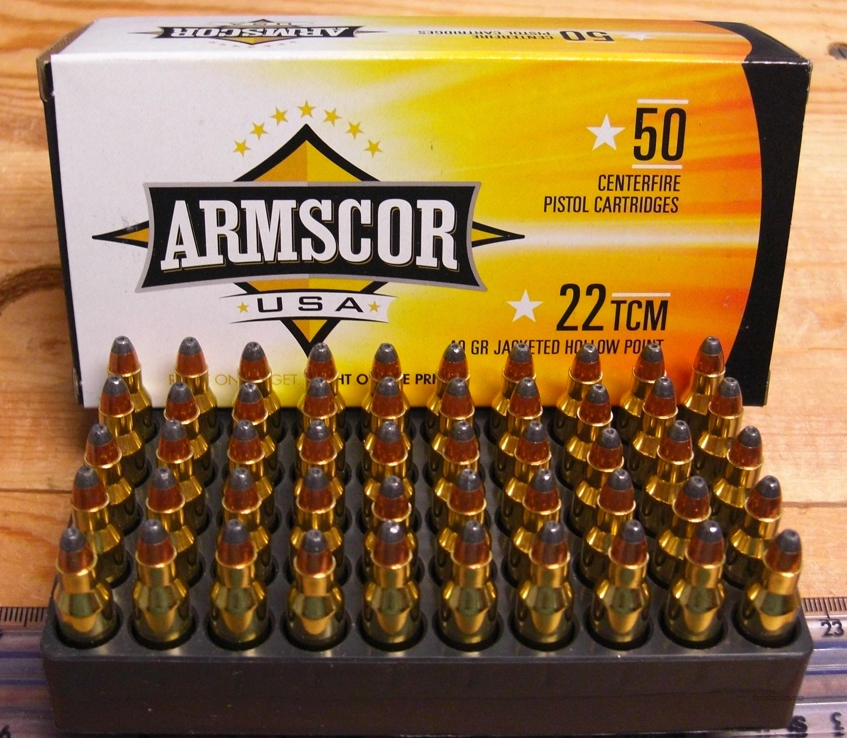 Armscor 22TCM ammo  Non-Guns > Ammunition