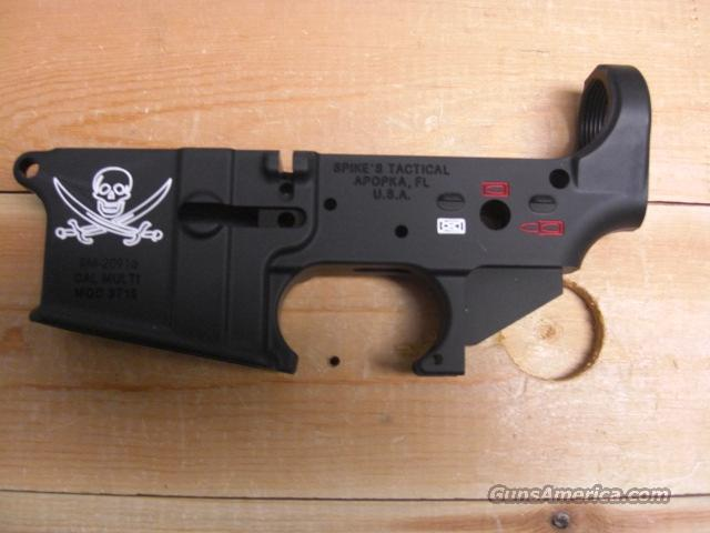 Spike's Tactical Jolly Roger engraved  Guns > Rifles > AR-15 Rifles - Small Manufacturers > Lower Only