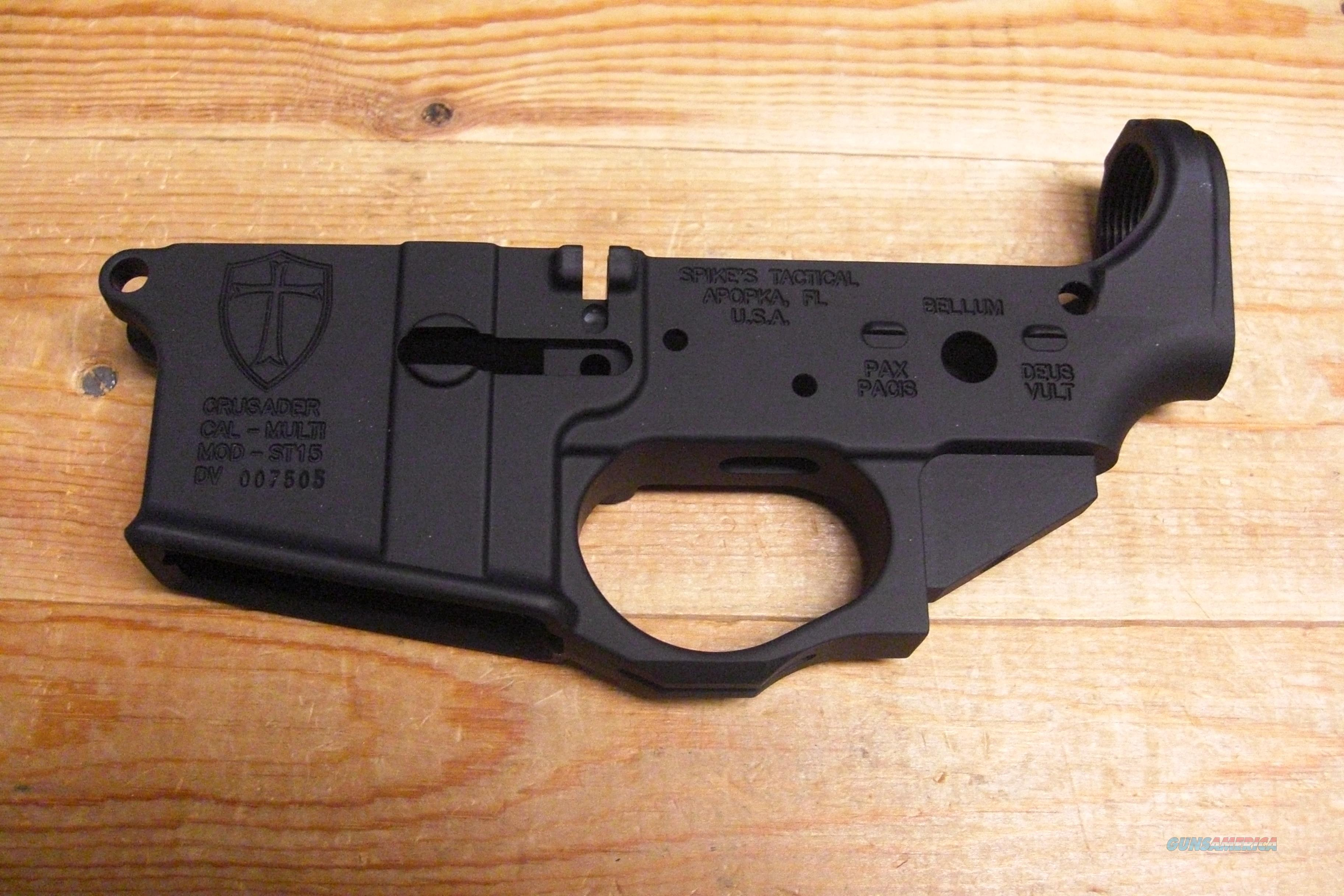 Spike's Tactical ST15 Crusader receiver  Guns > Rifles > AR-15 Rifles - Small Manufacturers > Lower Only