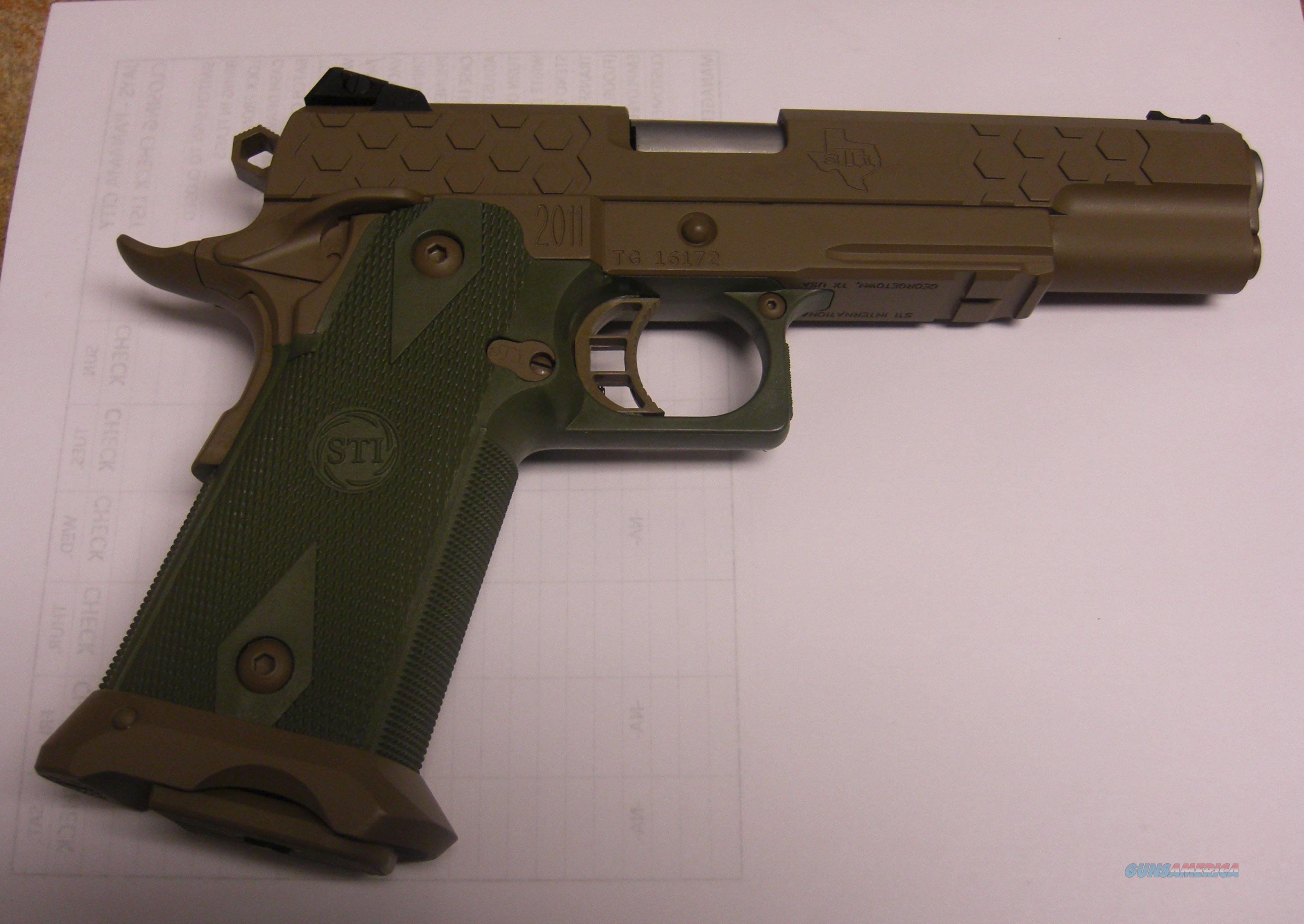 2011 Hex Tac 9 w/FDE & green finish  Guns > Pistols > STI Pistols
