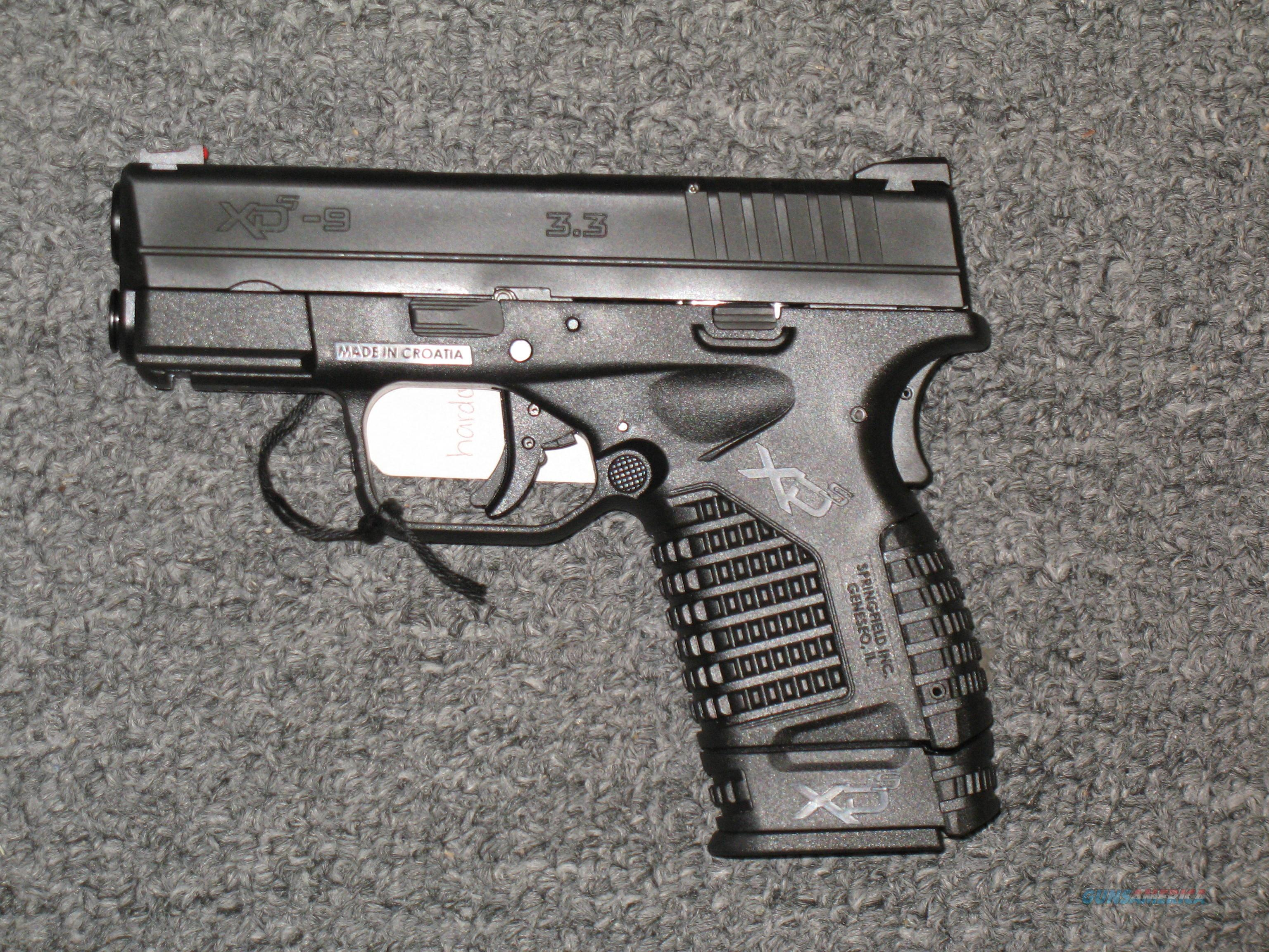 "XDS-9 w/one 7 rd. mag, two 8 rd. mags., 3.3"" bbl.   all black finish  Guns > Pistols > Springfield Armory Pistols > XD-S"