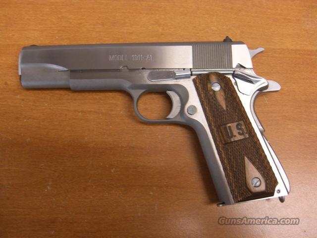 1911-A1  stainless G.I. Loaded  Guns > Pistols > Springfield Armory Pistols > 1911 Type