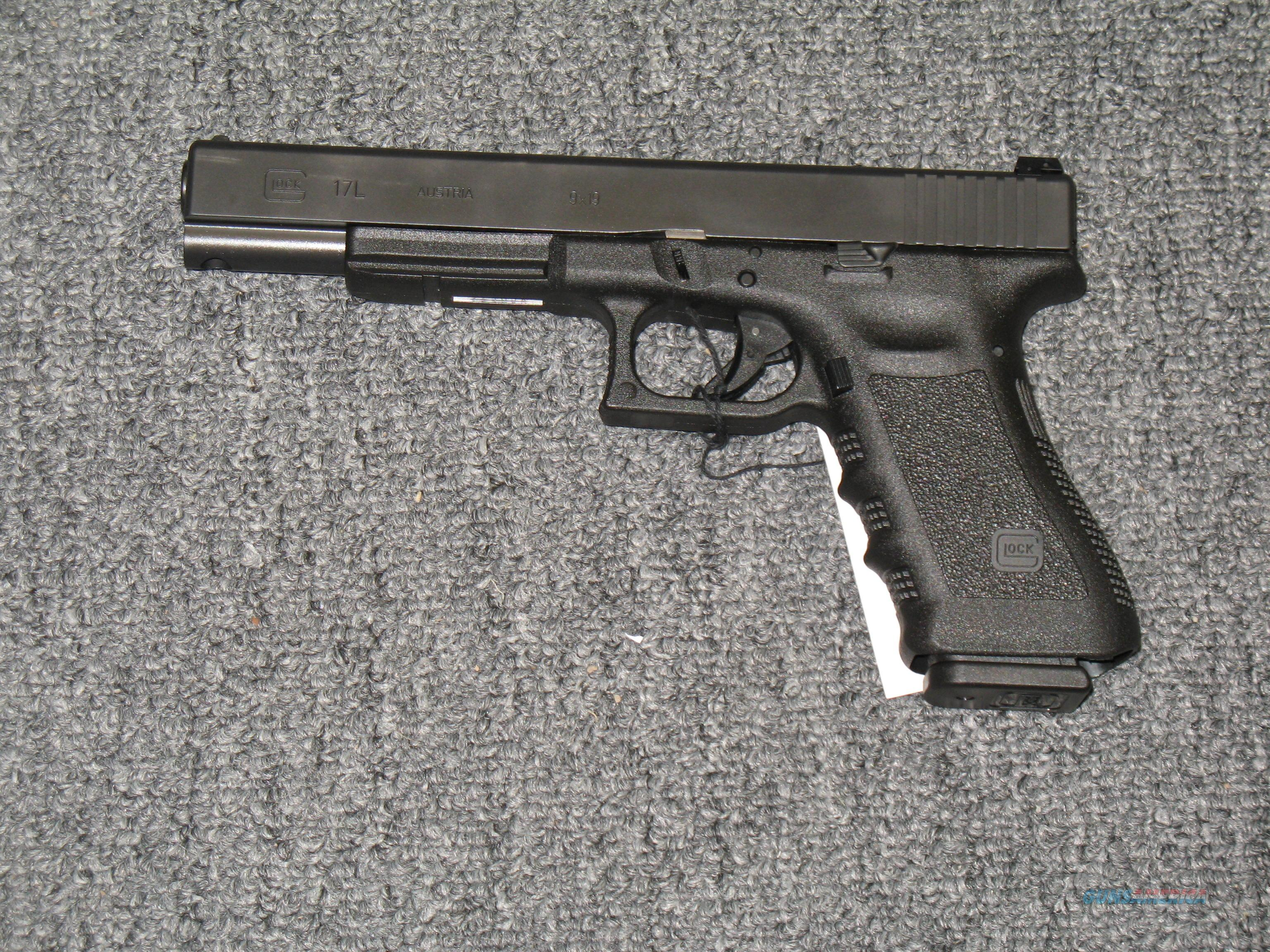 "17L w/6"" bbl., adjustable rear sights  Guns > Pistols > Glock Pistols > 17"