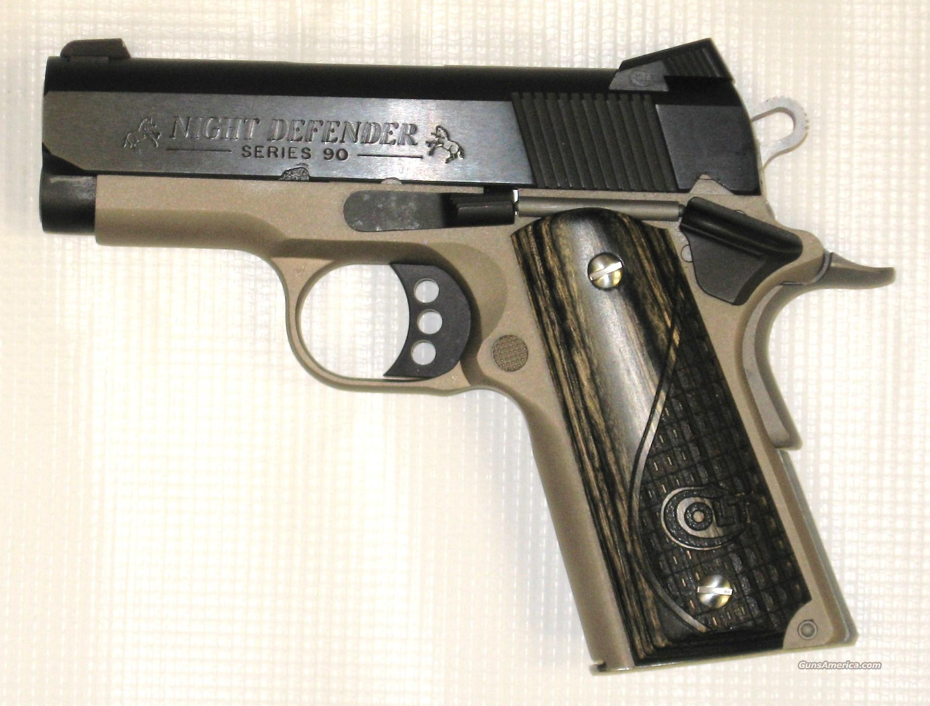 Colt Series 90 Night Defender Lightweight Two-tone  Guns > Pistols > Colt Automatic Pistols (1911 & Var)
