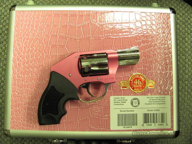 The Chic Lady Off Duty (pink with polished stainless, .38 spl)  Guns > Pistols > Charter Arms Revolvers