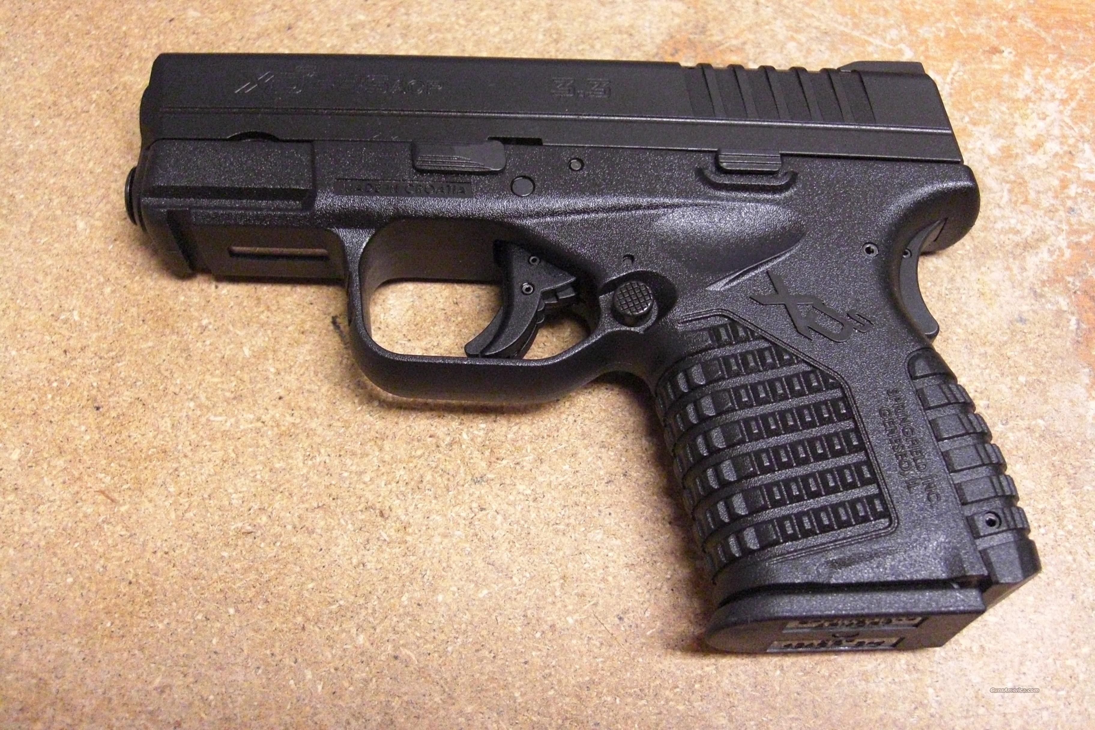 "XDS-45 (3.3""bbl.) w/overall black finish  Guns > Pistols > Springfield Armory Pistols > XD (eXtreme Duty)"