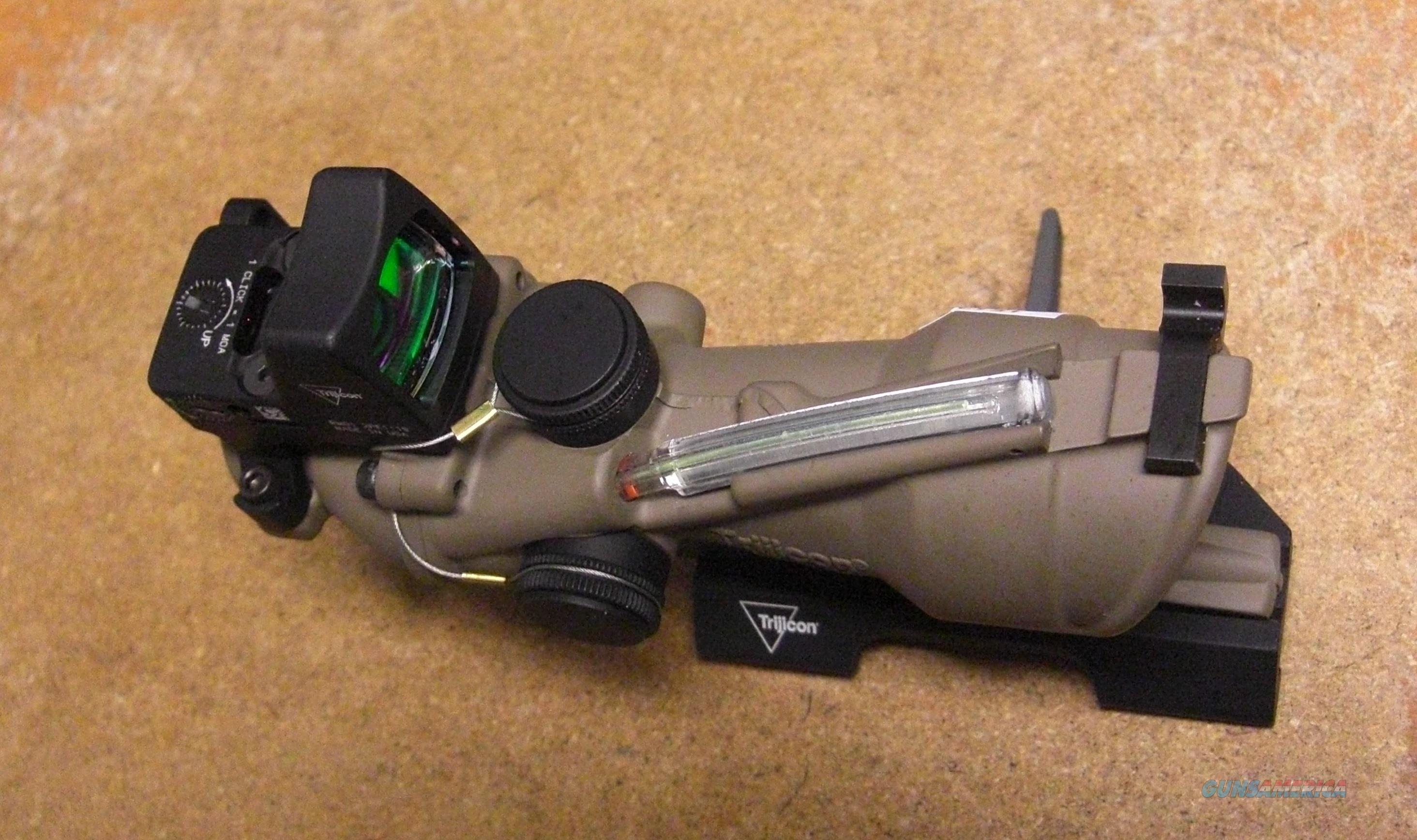 Trijicon ACOG 4x32 light green BAC Illum. Flattop reticle & red RMR dot  Non-Guns > Scopes/Mounts/Rings & Optics > Tactical Scopes > Red Dot
