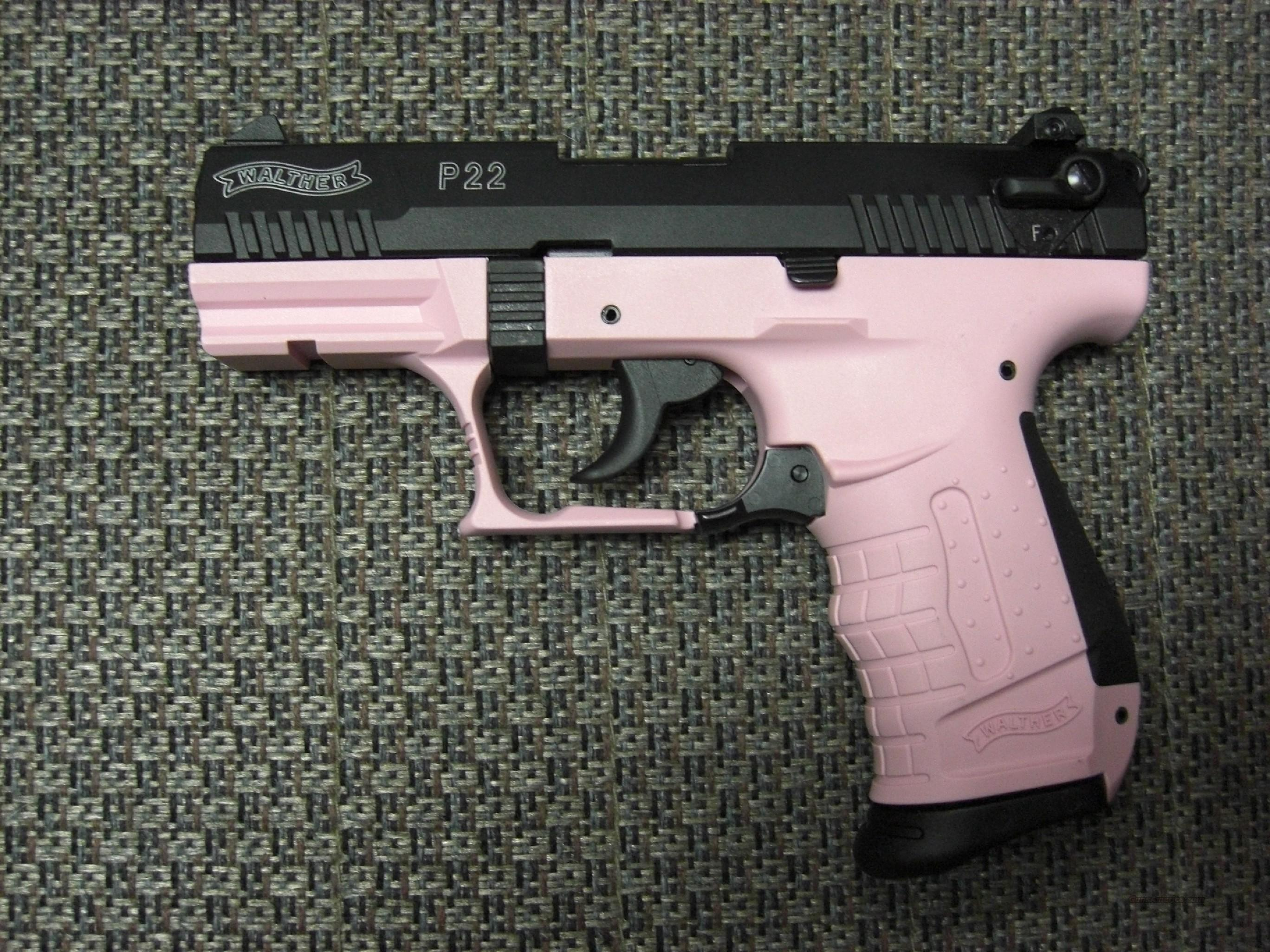 P22 (3.4 inch barrel, black with pink)  Guns > Pistols > Walther Pistols > Post WWII > Target Pistols