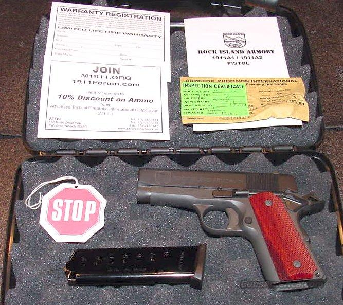 ROCK ISLAND 1911 OFFICER MODEL  Guns > Pistols > Armscor Pistols
