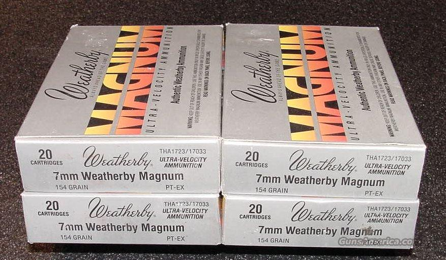 Weatherby 7MM Magnum Ammo 4 Boxes  Non-Guns > Ammunition