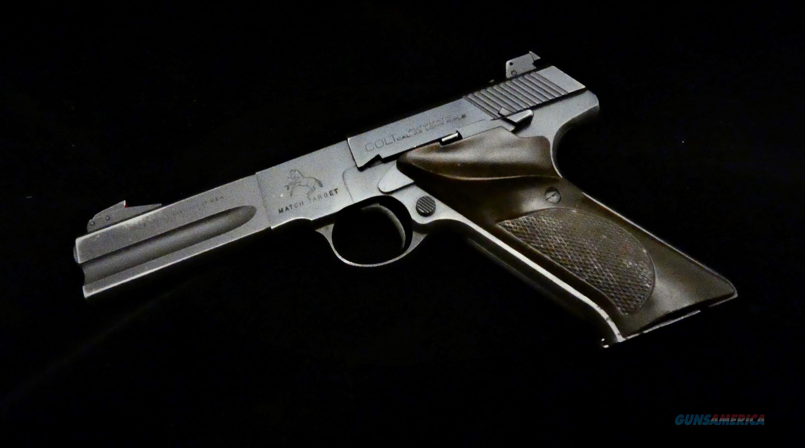 "Colt Match Target 4.5"" BBL Semi-Auto  Guns > Pistols > Colt Automatic Pistols (22 Cal.)"