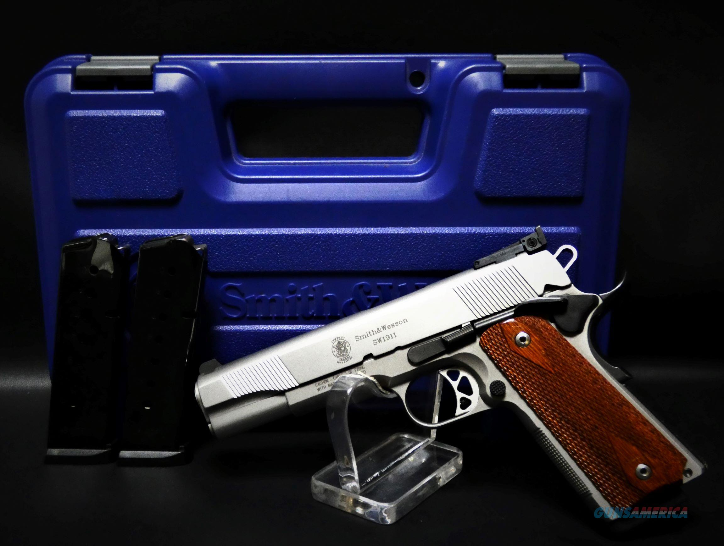 """Smith & Wesson SW1911 .45 Auto Stainless 4"""" BBL  Guns > Pistols > Smith & Wesson Pistols - Autos > Steel Frame"""