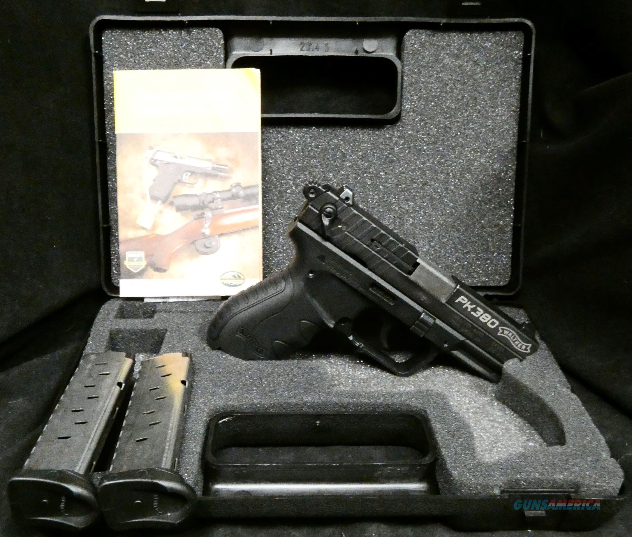 Walther PK380 in 380 Auto all black with 2 magazines and case  Guns > Pistols > Walther Pistols > Post WWII > PK380