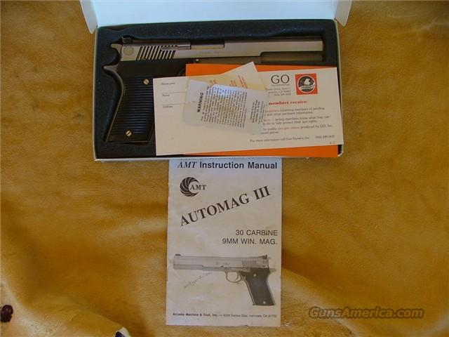 AMT Automag 30 Carbine Excellent in Box  Guns > Pistols > AMT Pistols > 1911 copies