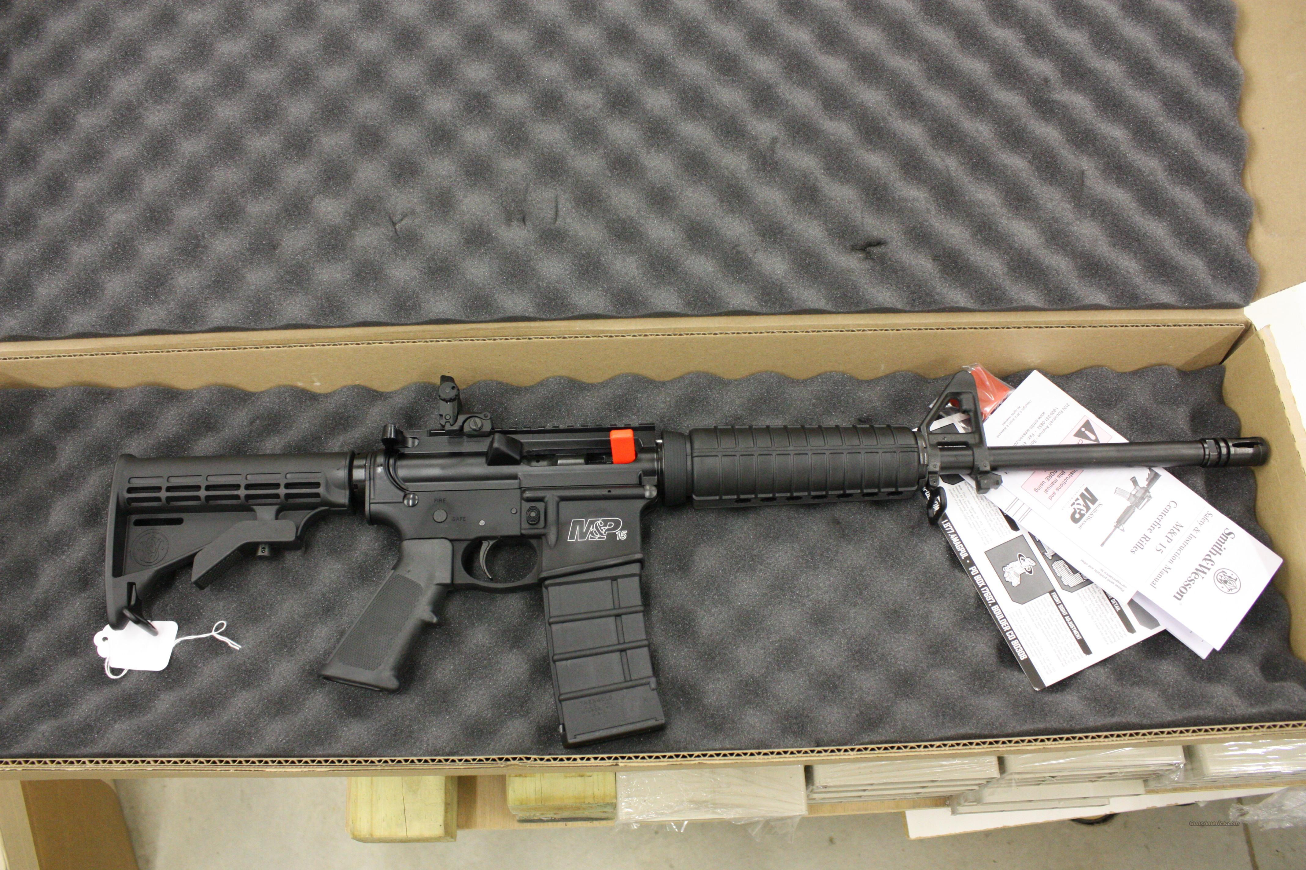 "Smith & Wesson M&P 15 .223 AR-15 16"" blued barrel & 5 black poly mags  Guns > Rifles > AR-15 Rifles - Small Manufacturers > Complete Rifle"