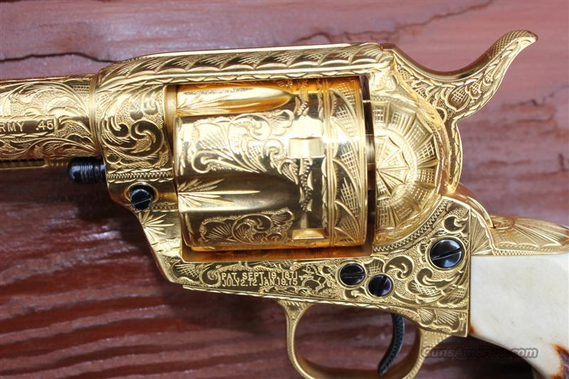 FULLY ENGRAVED COLT SAA 3RD GEN  Guns > Pistols > Colt Single Action Revolvers - 3rd Gen.