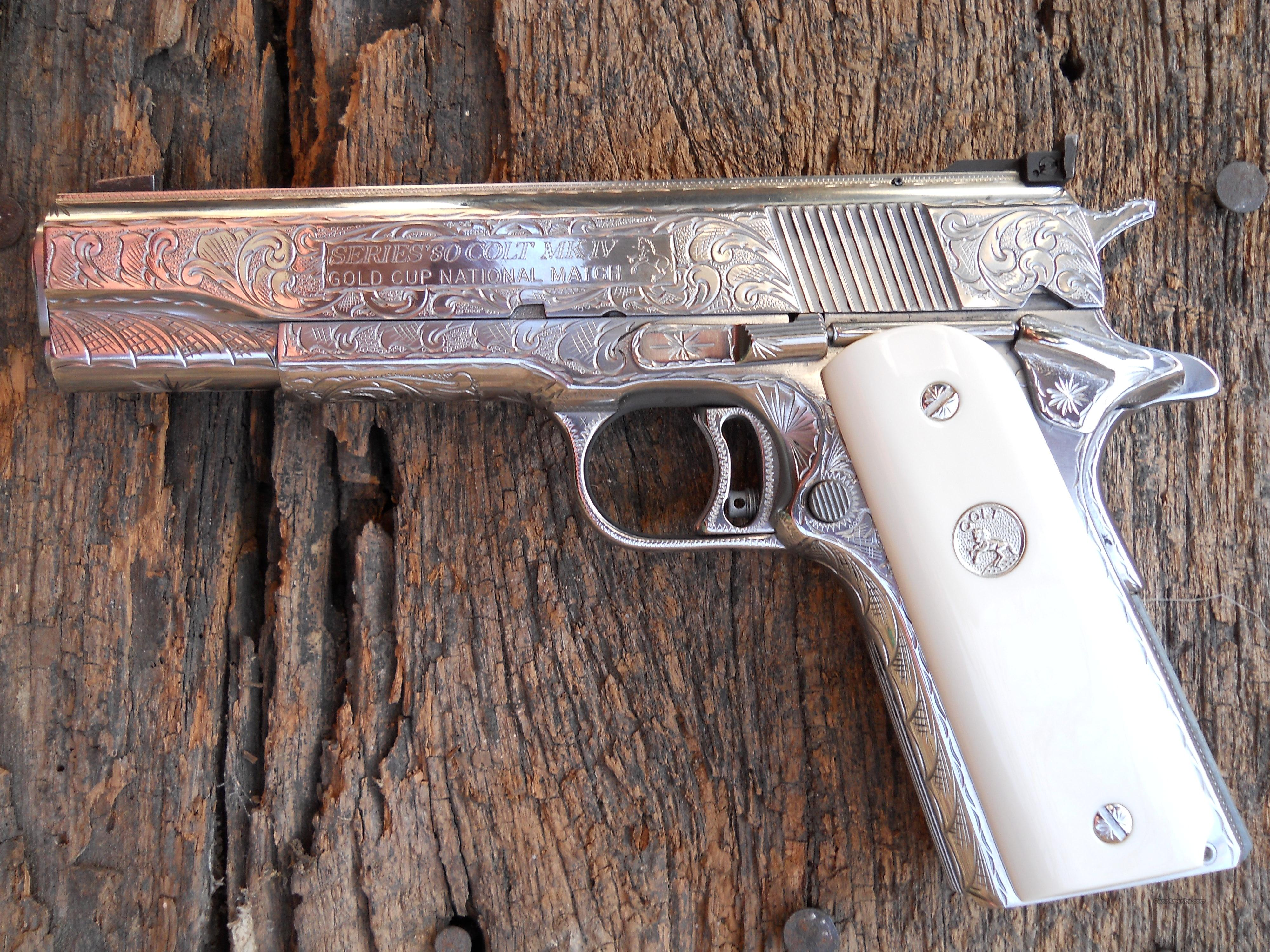 Gold Cup Nation Match Fully Engraved  Guns > Pistols > Colt Automatic Pistols (1911 & Var)