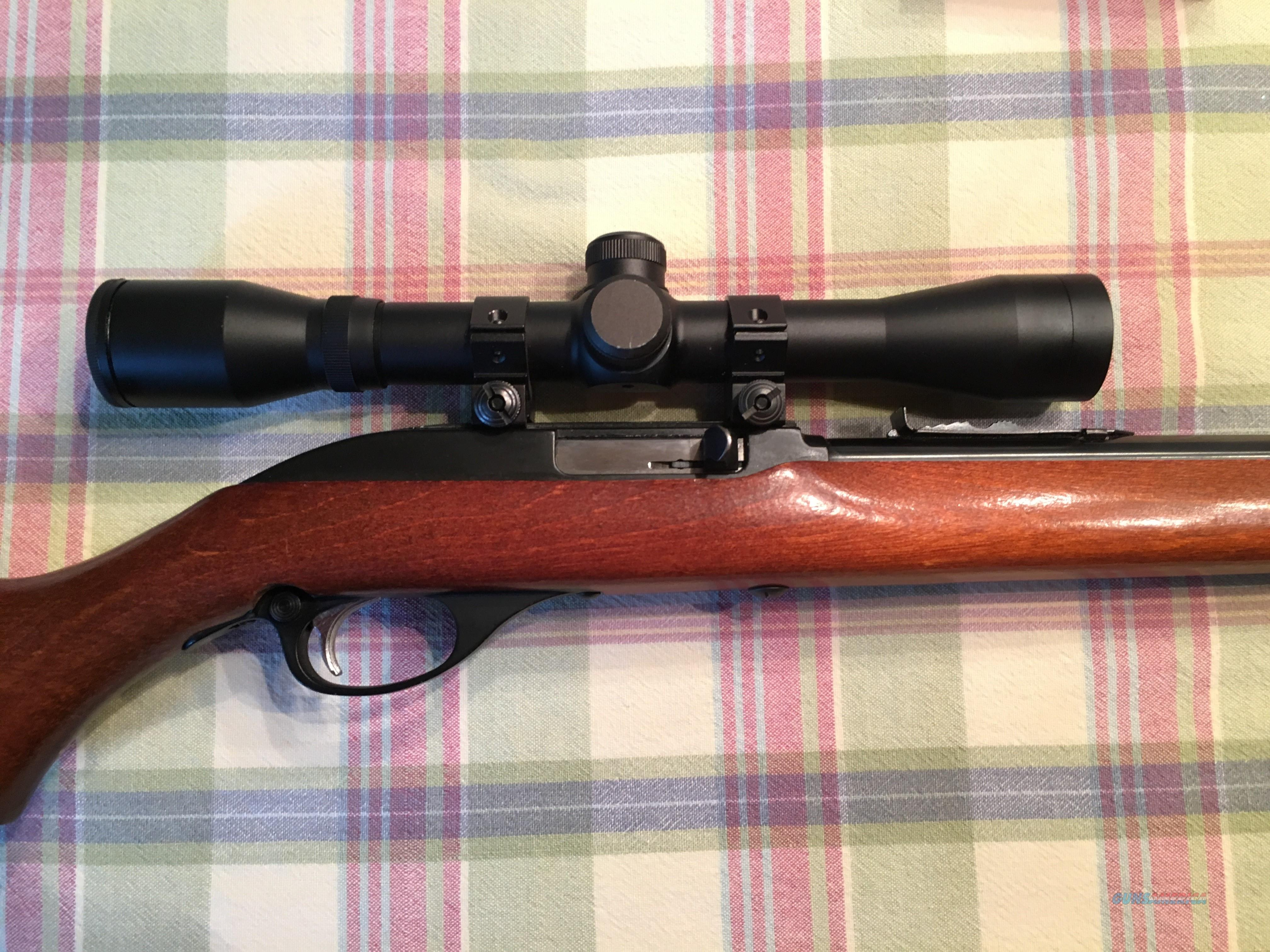 MARLIN/GLENFIELD MODEL 60 .22LR SEMI-AUTO RIFLE WITH BARSKA 4X SCOPE  Guns > Rifles > Marlin Rifles > Modern > Semi-auto