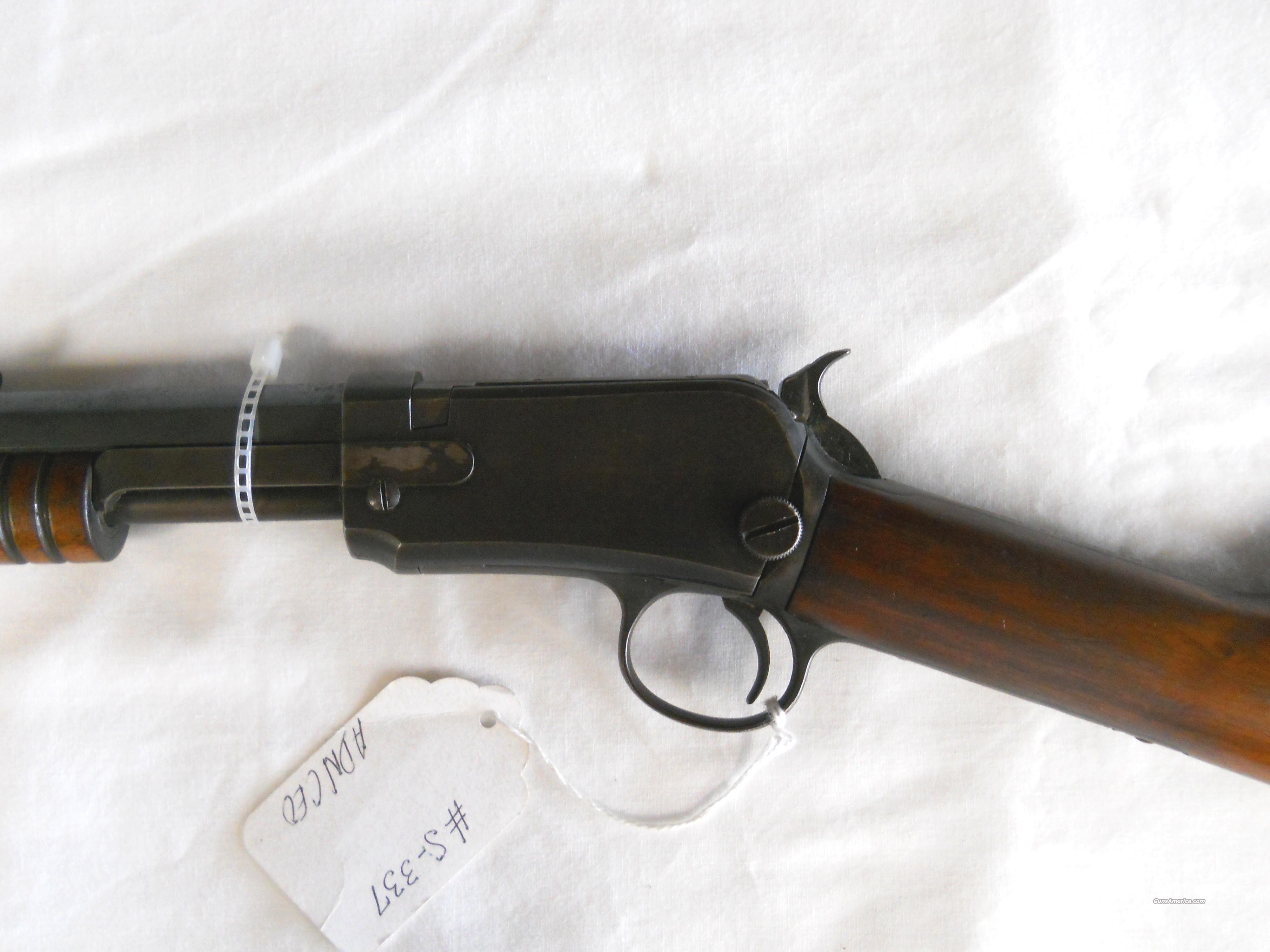 1890 WINCHESTER (MFG 1917) OCTAGON BARREL - .22 SHORT - PUMP ACTION RIFLE  Guns > Rifles > Winchester Rifles - Pre-1899 Pump