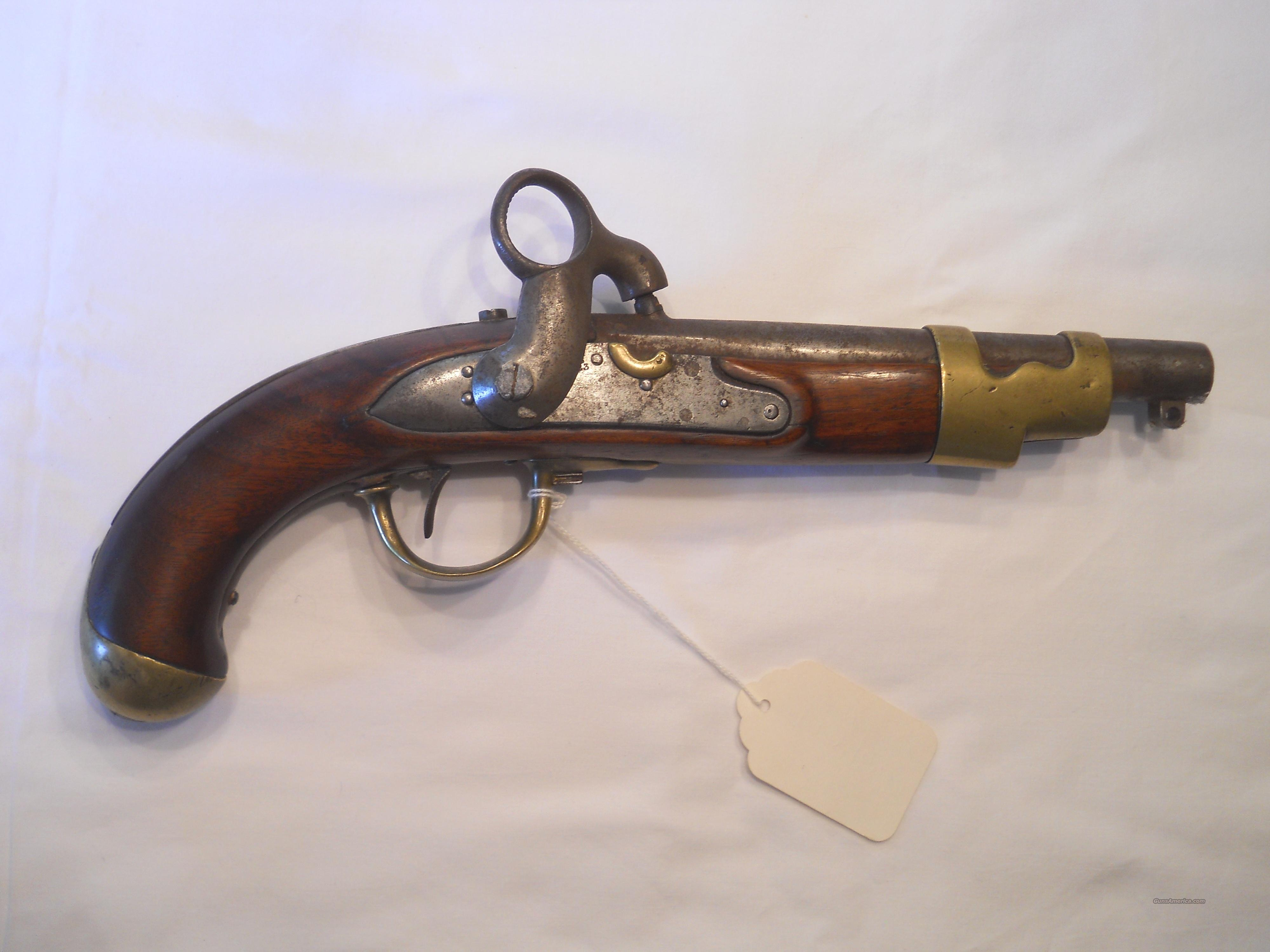 1823 EUROPEAN ANTIQUE PERCUSSION CONVERSION .69 CALIBER PISTOL  Guns > Pistols > Antique (Pre-1899) Pistols - Perc. Misc.