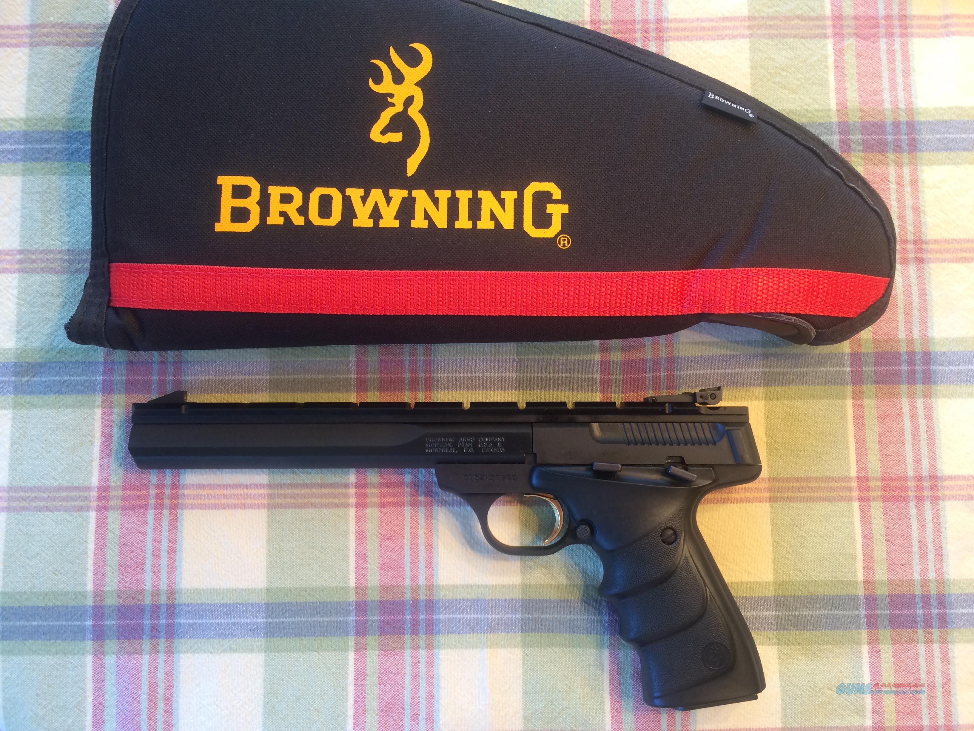 BROWNING BUCK MARK CONTOUR 7.25 URX .22 CALIBER SEMI-AUTO PISTOL - NEW!!  Guns > Pistols > Browning Pistols > Buckmark