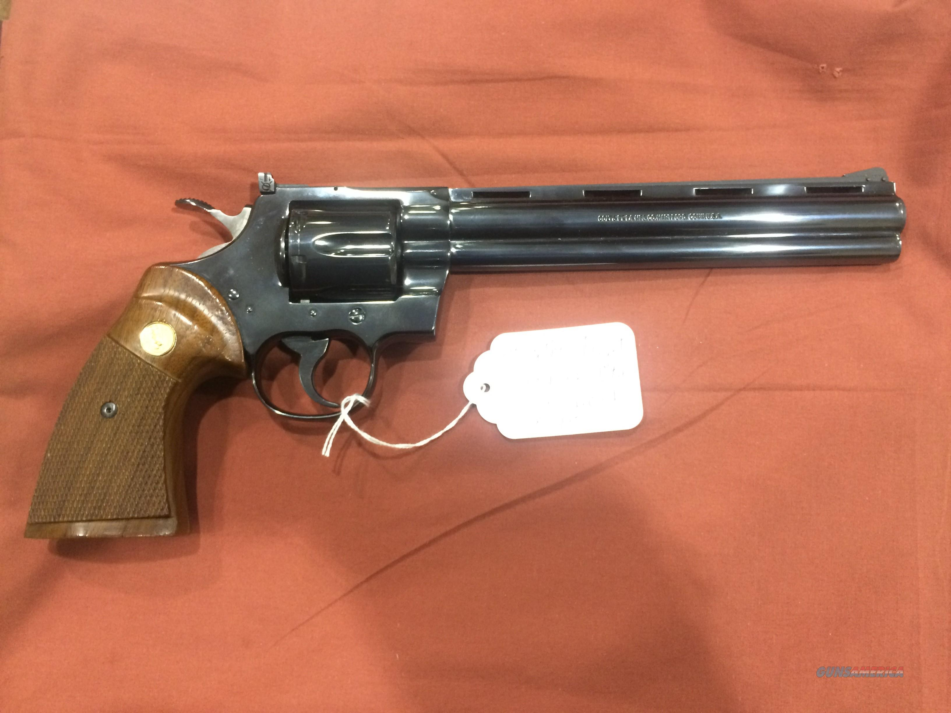 """COLT PYTHON TARGET .38 SPECIAL ONLY - 8"""" - 1980 - ONE OF 3489 MADE - SCARCE!!  Guns > Pistols > Colt Double Action Revolvers- Modern"""