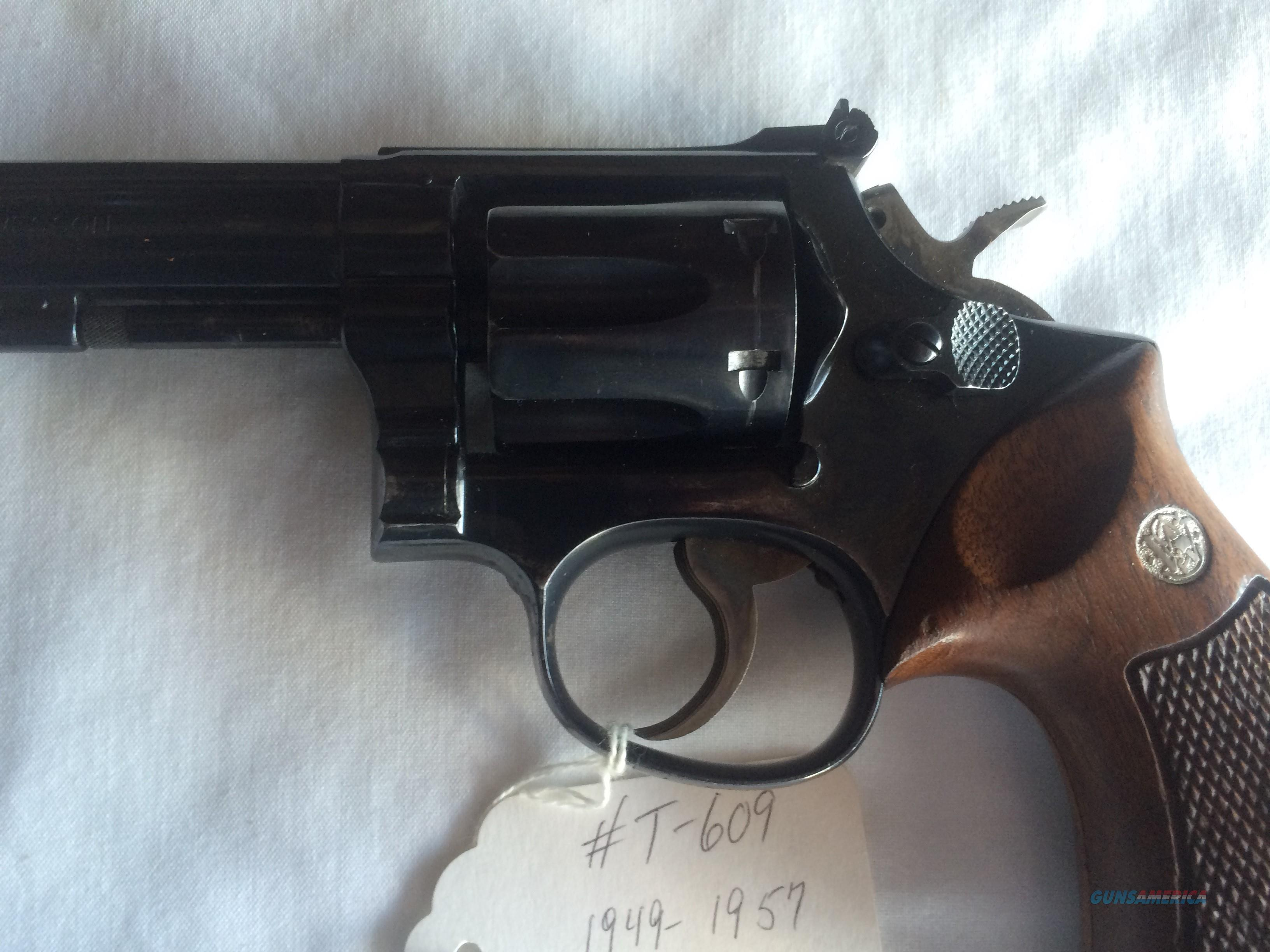 SMITH & WESSON PRE-MODEL 15 COMBAT MASTERPIECE .38 SPECIAL REVOLVER  Guns > Pistols > Smith & Wesson Revolvers > Full Frame Revolver