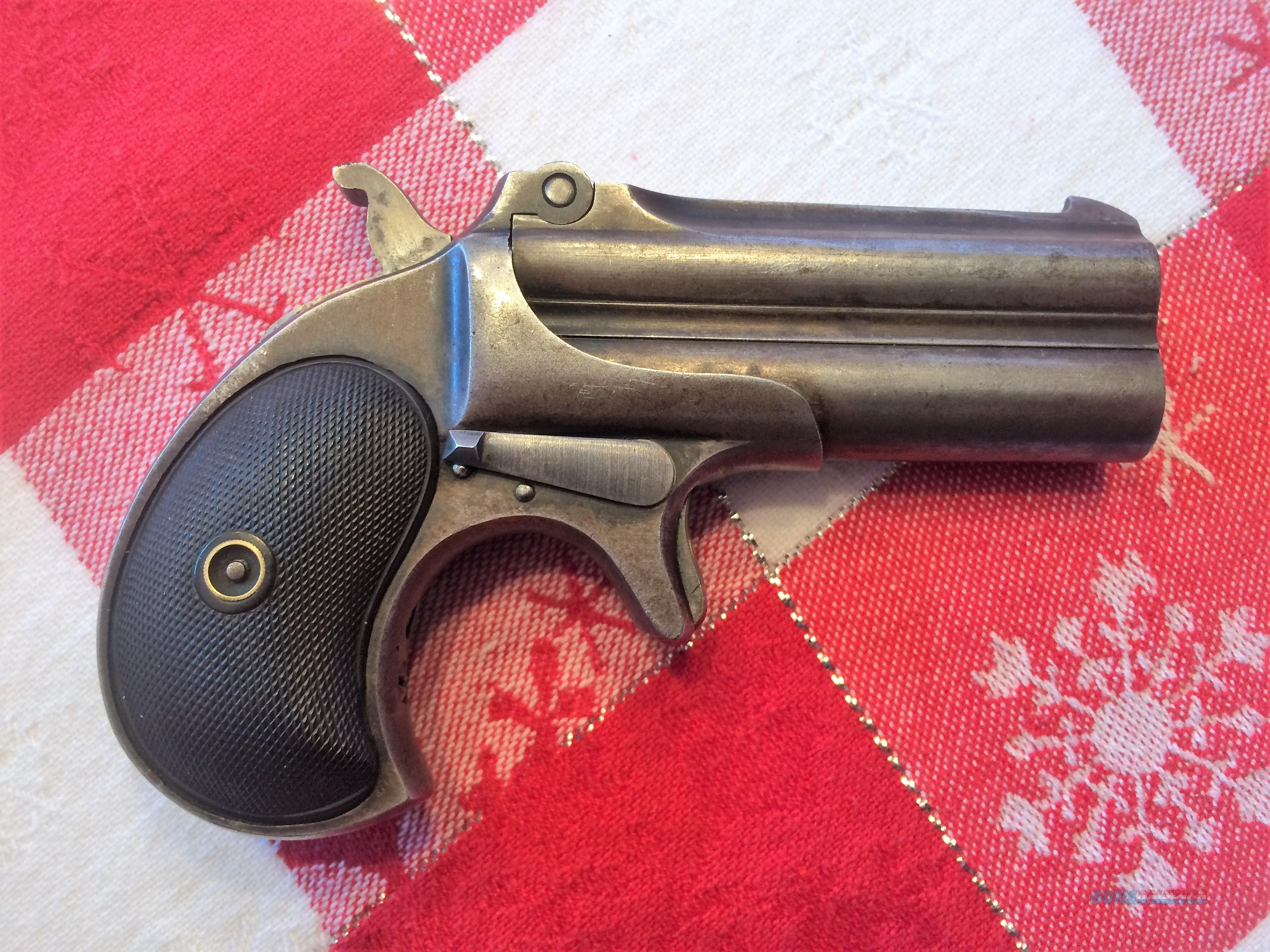 RARE!! 1888-1911 REMINGTON'S OVER/UNDER DERRINGER - .41 RIMFIRE - TYPE FOUR  Guns > Pistols > Remington Derringers