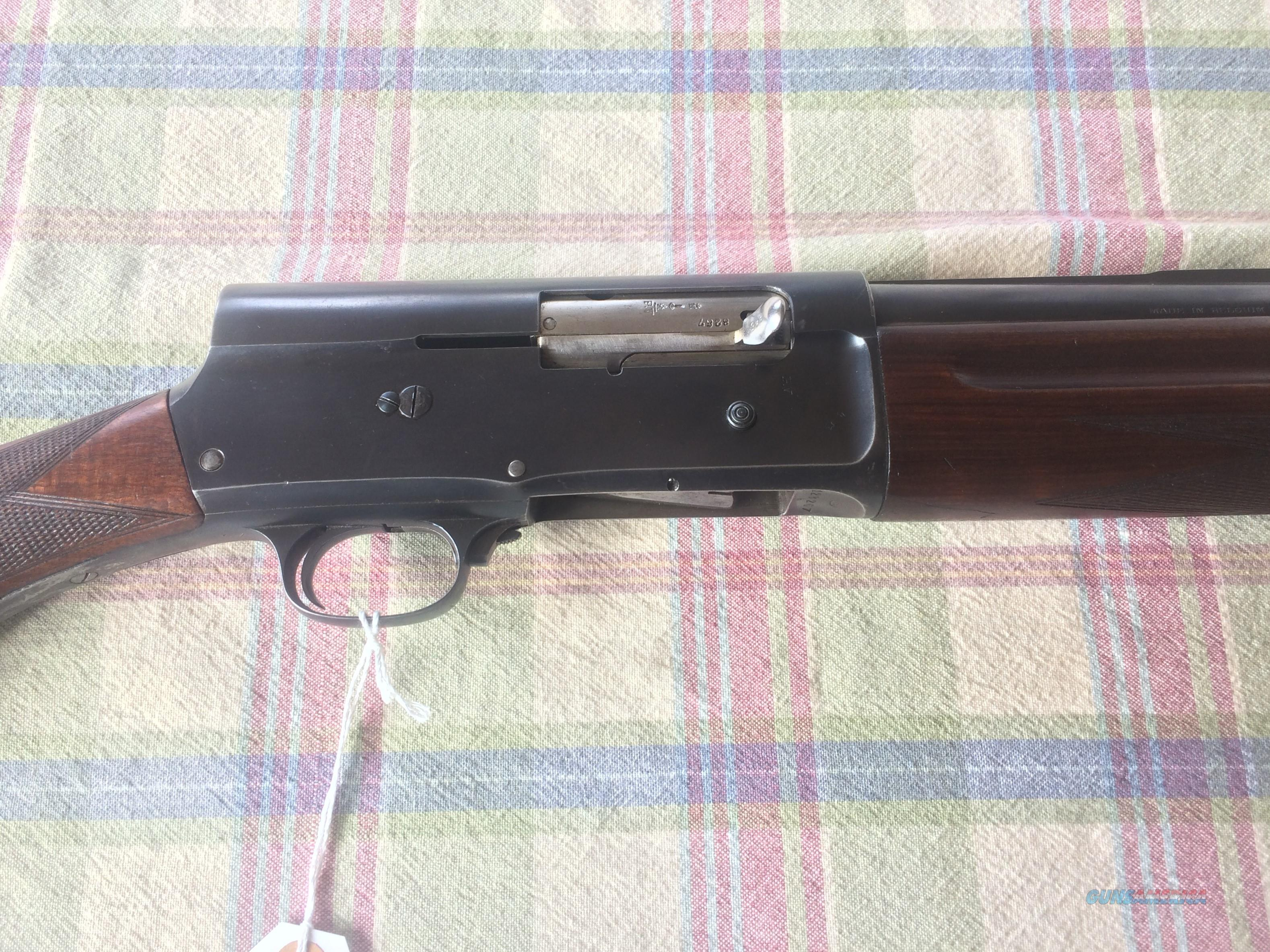 PRICE REDUCED!! BELGIUM BROWNING A-5 .12 GA. SEMI-AUTO SHOTGUN - NICE!!  Guns > Shotguns > Browning Shotguns > Autoloaders > Hunting