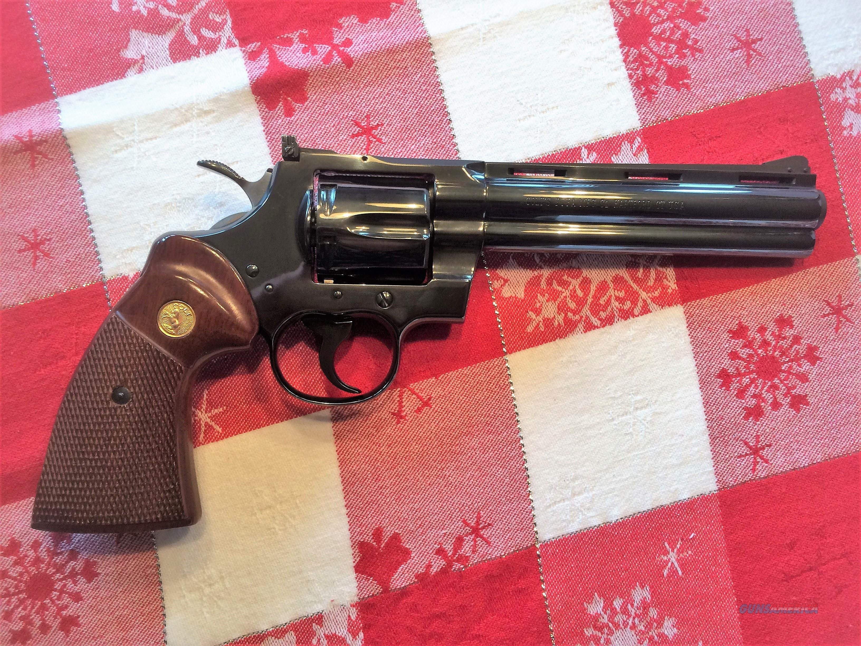MINTY!!  1971 - COLT PYTHON - 6 INCH - BLUED - .357 - REVOLVER - UNFIRED!!  Guns > Pistols > Colt Double Action Revolvers- Modern