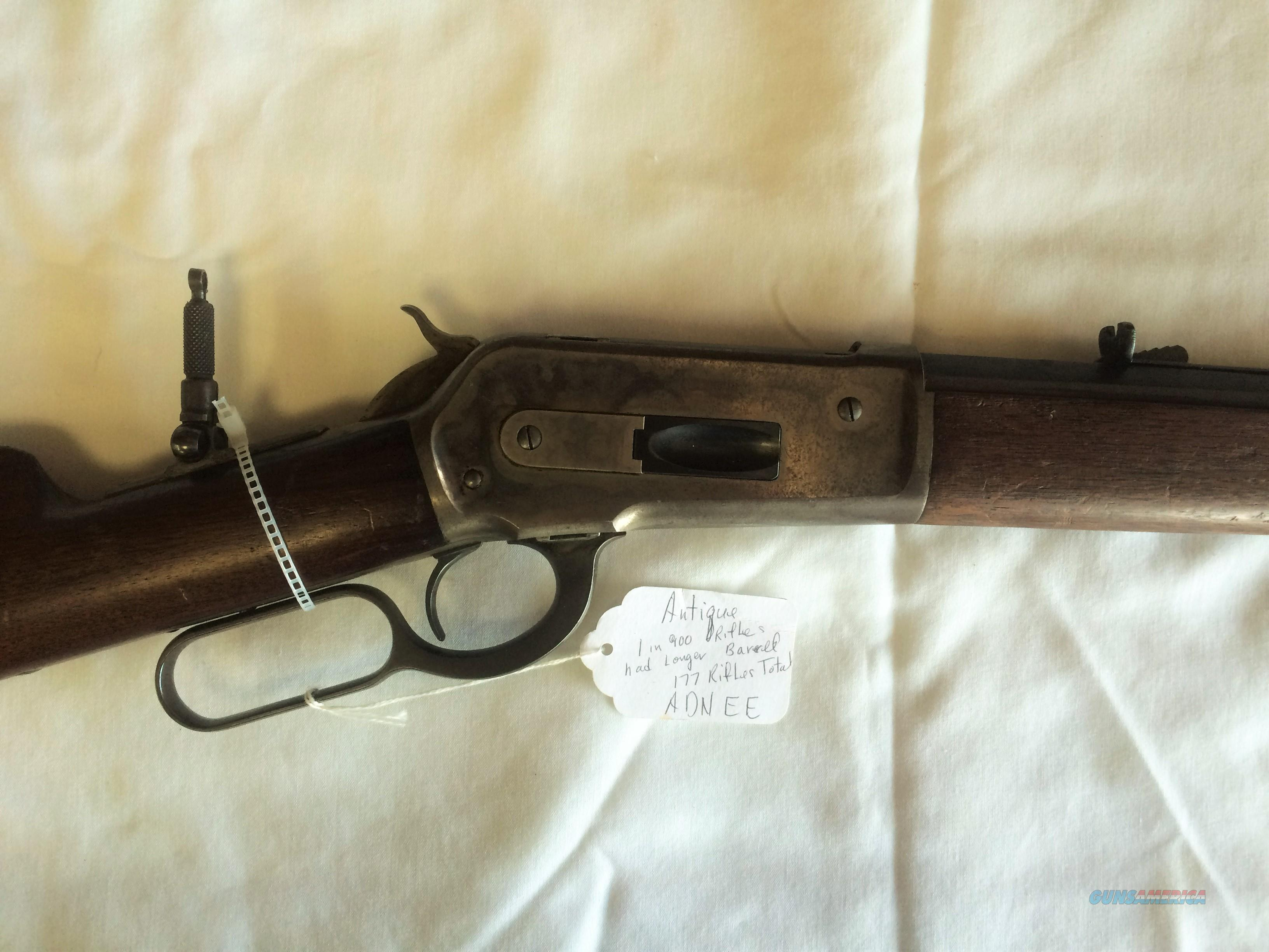 WINCHESTER 1886 .38-56 LEVER ACTION RIFLE ( ONLY 177 EVER MADE)  Guns > Rifles > Winchester Rifles - Pre-1899 Lever