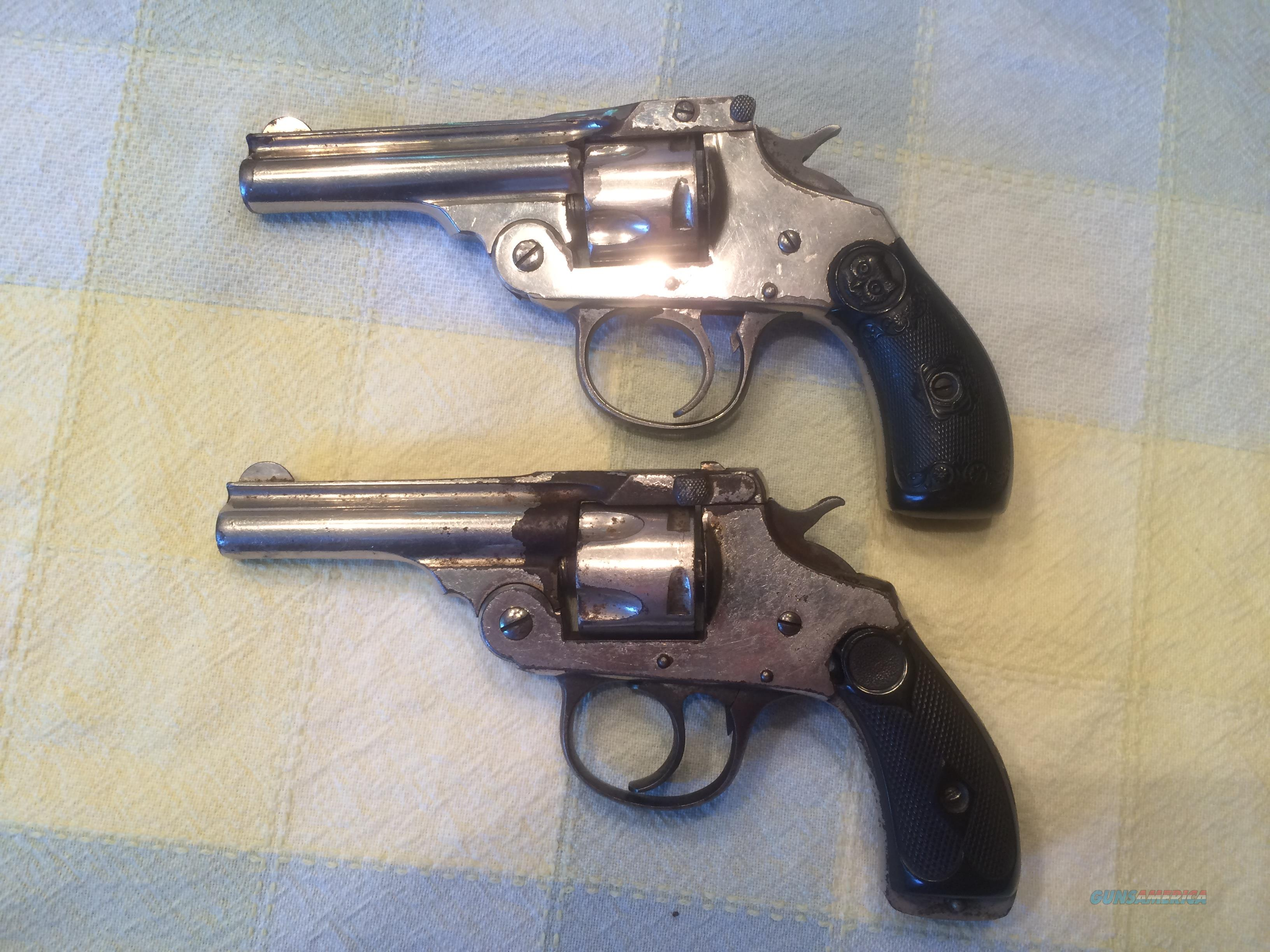 IVER JOHNSON ARMS & CYCLE WORKS - 2 REVOLVERS - SOLD FOR PARTS ONLY.  Guns > Pistols > Iver Johnson Pistols