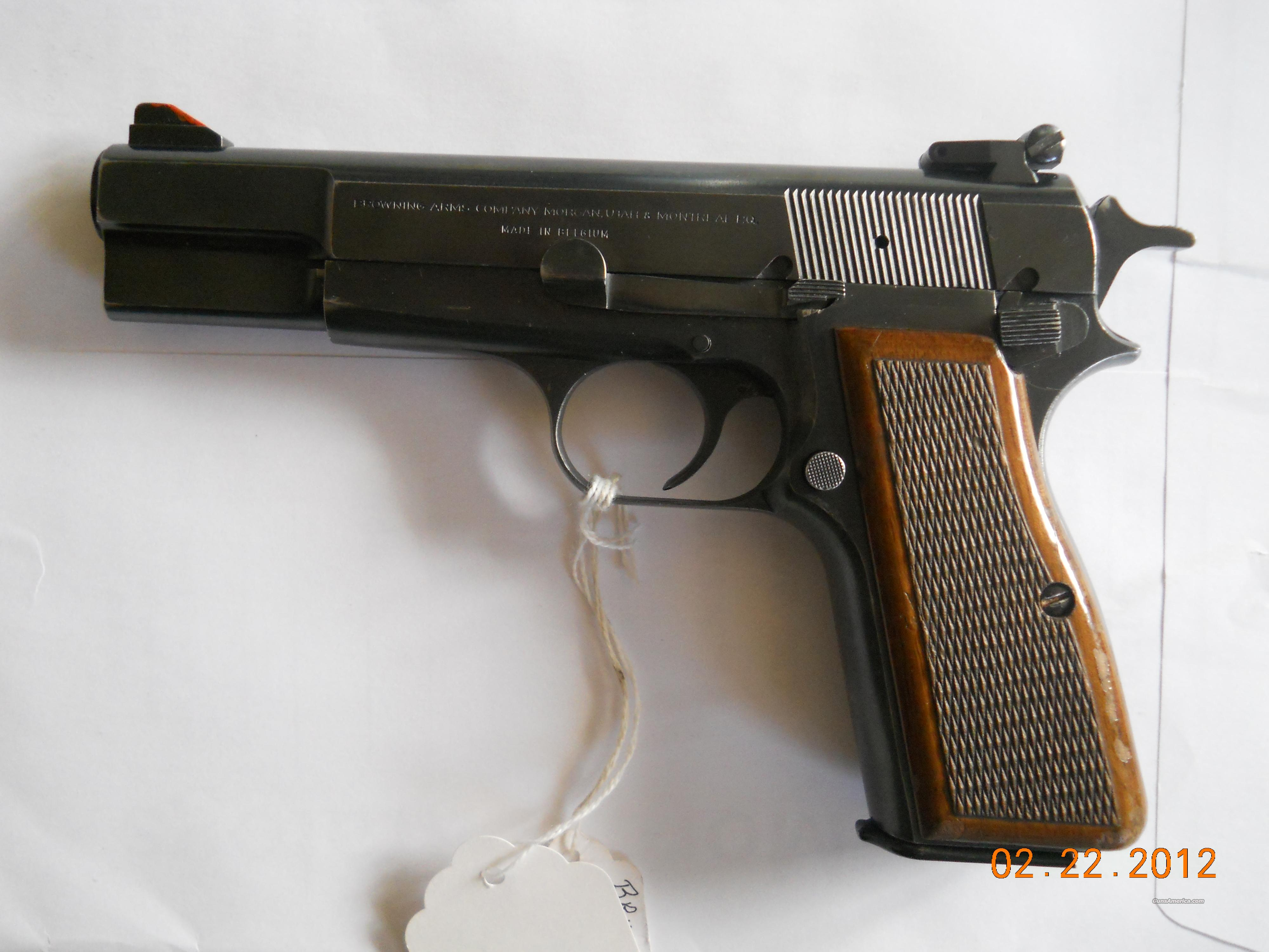 BROWNING - BELGIUM - HI-POWER .9MM AUTO PISTOL  Guns > Pistols > Browning Pistols > Hi Power