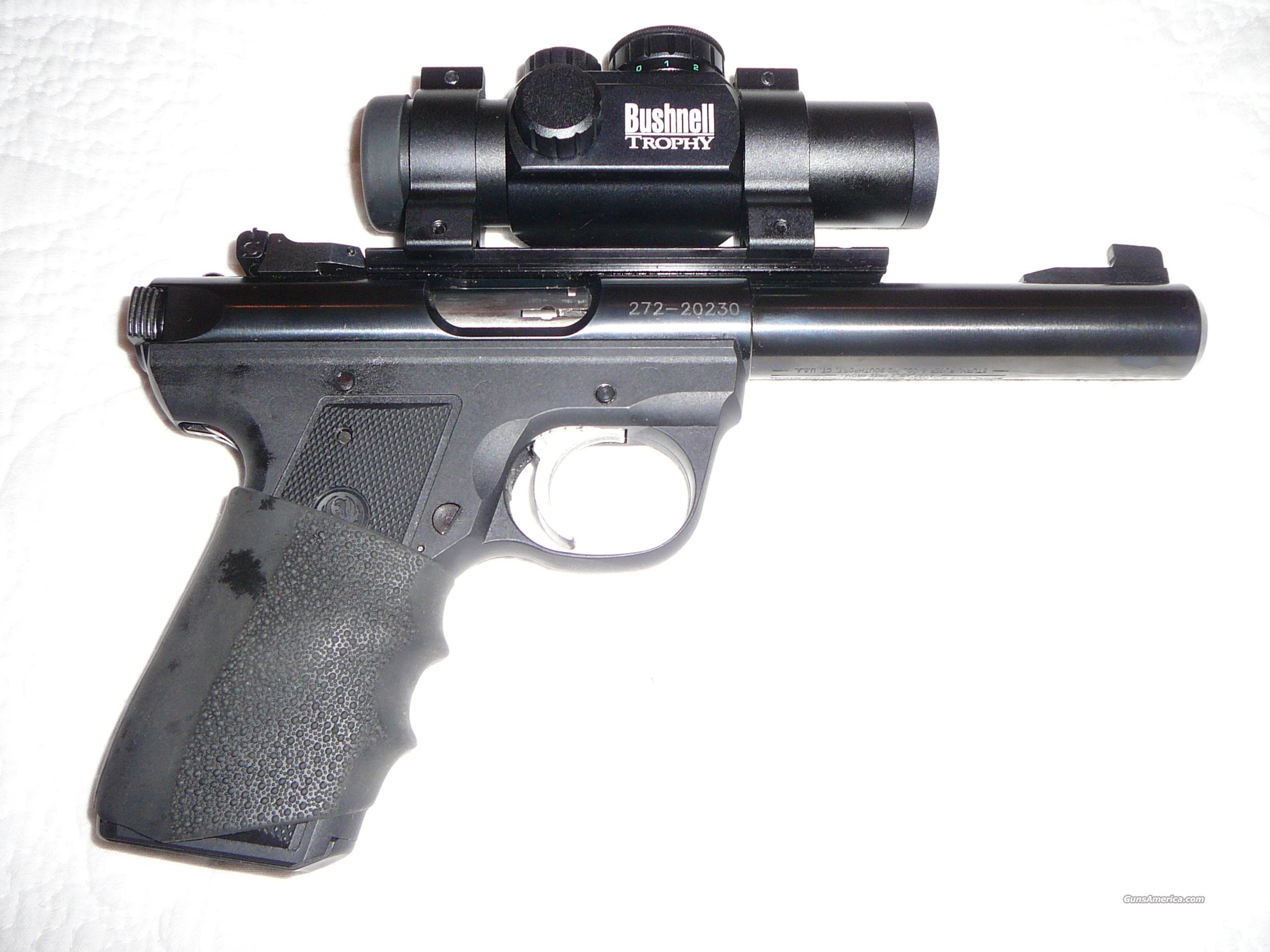 NICE!!  RUGER .22/45 TARGET .22 CAL. SEMI-AUTO PISTOL WITH RED DOT SCOPE  Guns > Pistols > Ruger Semi-Auto Pistols > Mark I & II Family