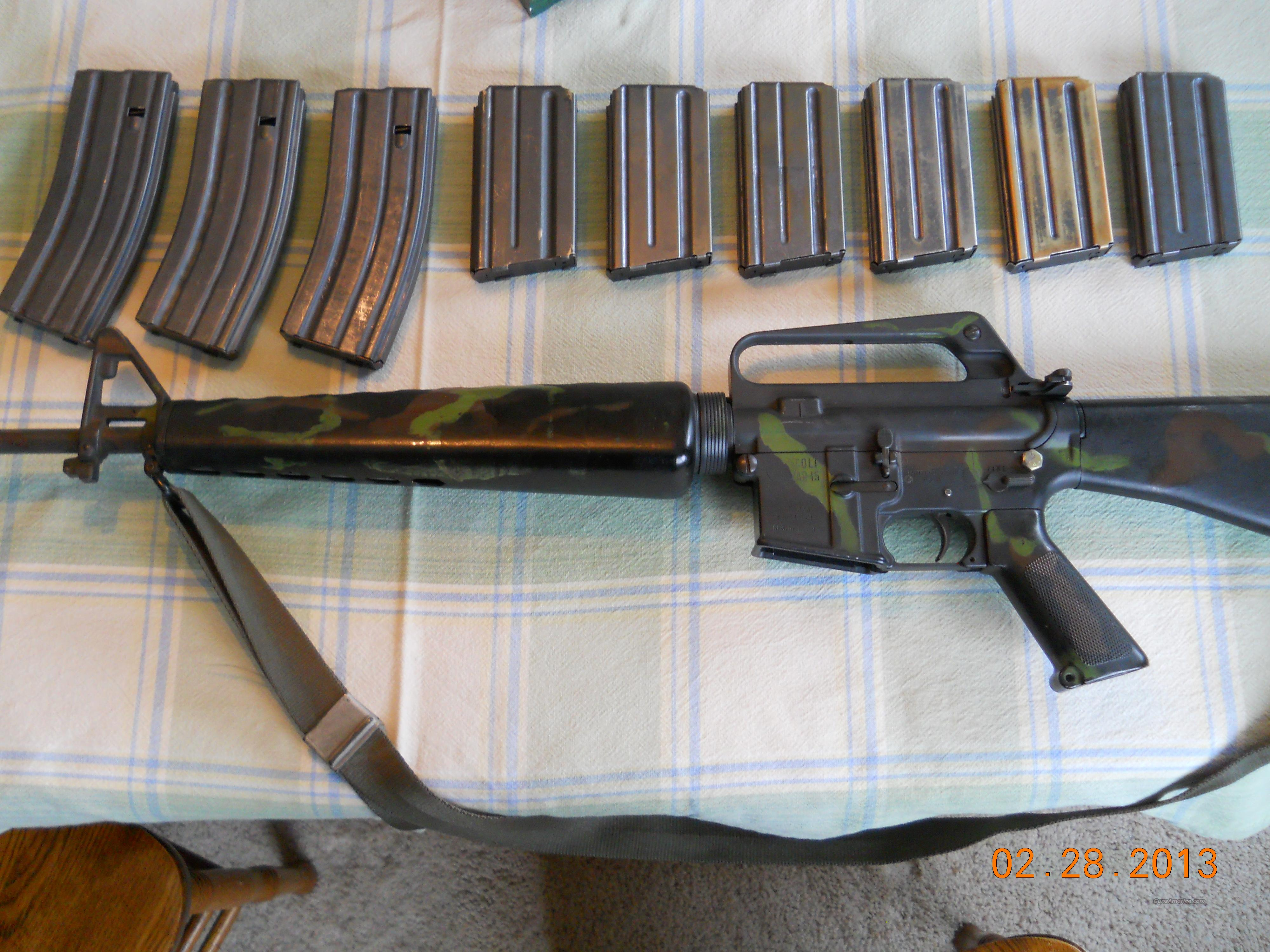 "LOOK!! PRE-BAN COLT AR-15 MODEL SP1 .223 20"" BARREL + 9 MAGZINES!!  Guns > Rifles > Colt Military/Tactical Rifles"