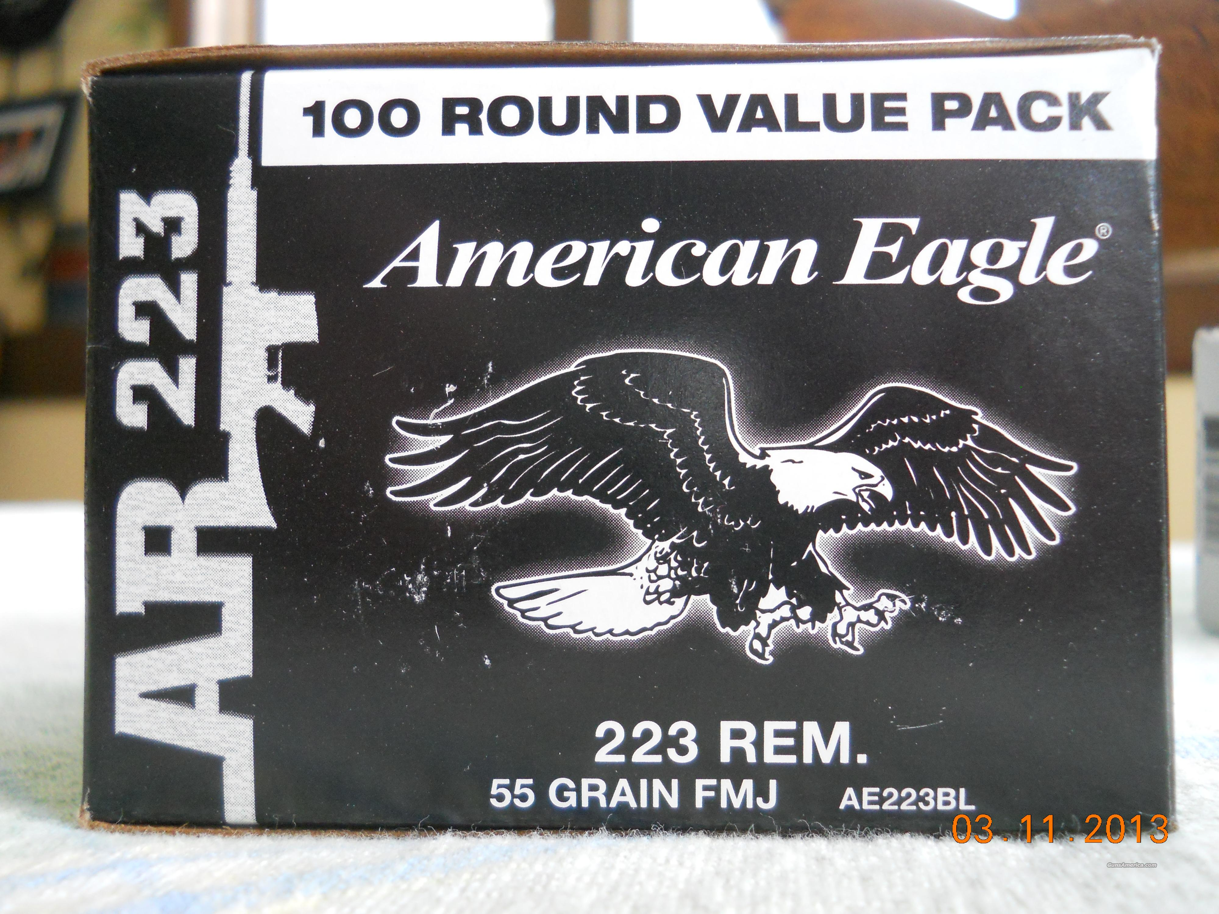 LOOK!! FEDERAL AR .223 AMMO (5.56) 55 GRAIN FMJ - 100 ROUNDS $82.50  Non-Guns > Ammunition