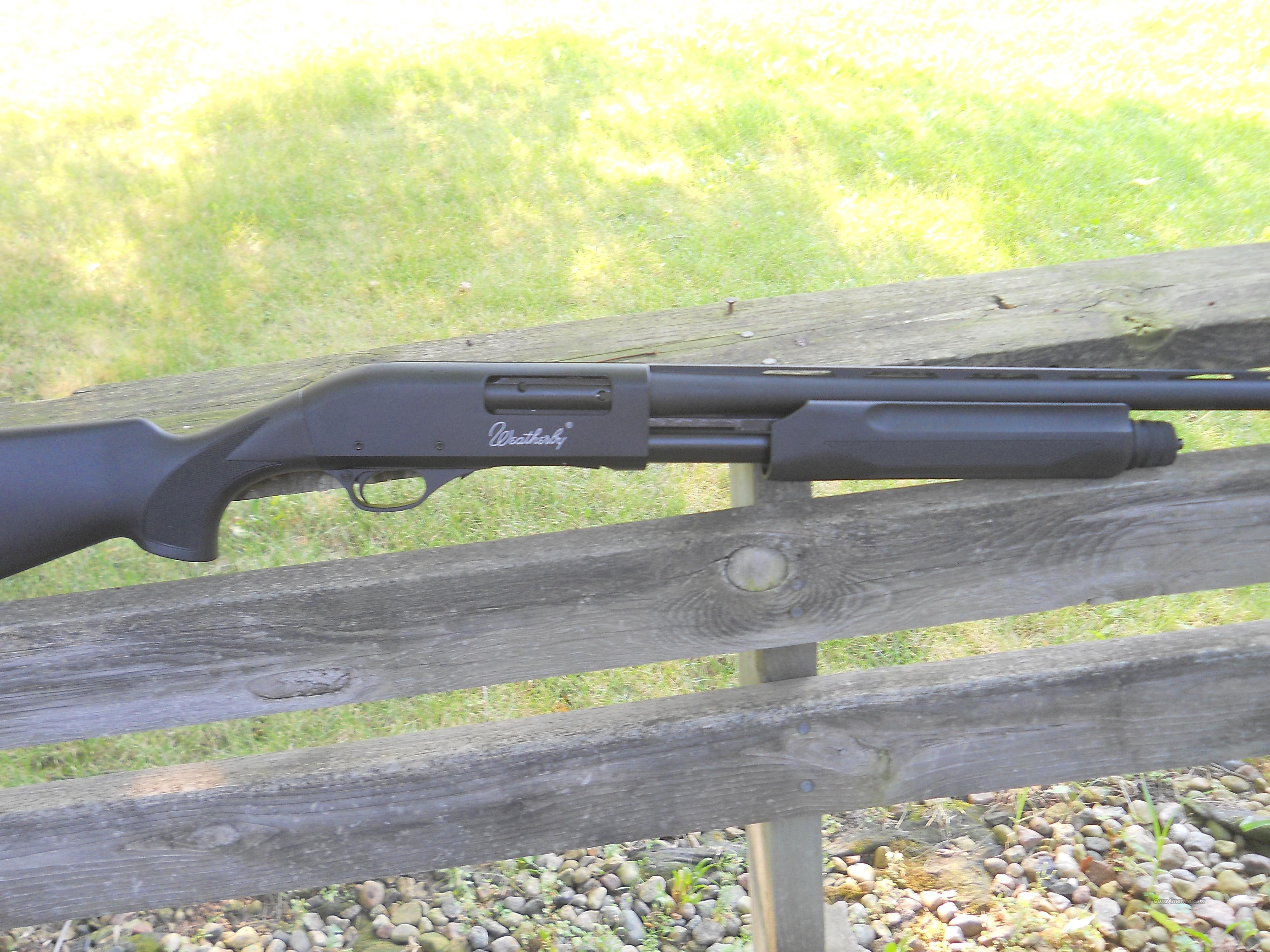 "WEATHERBY PA08 .12 GA. - 3"" - 26"" SYNTHETIC PUMP SHOTGUN  Guns > Shotguns > Weatherby Shotguns > Hunting > Autoloader"